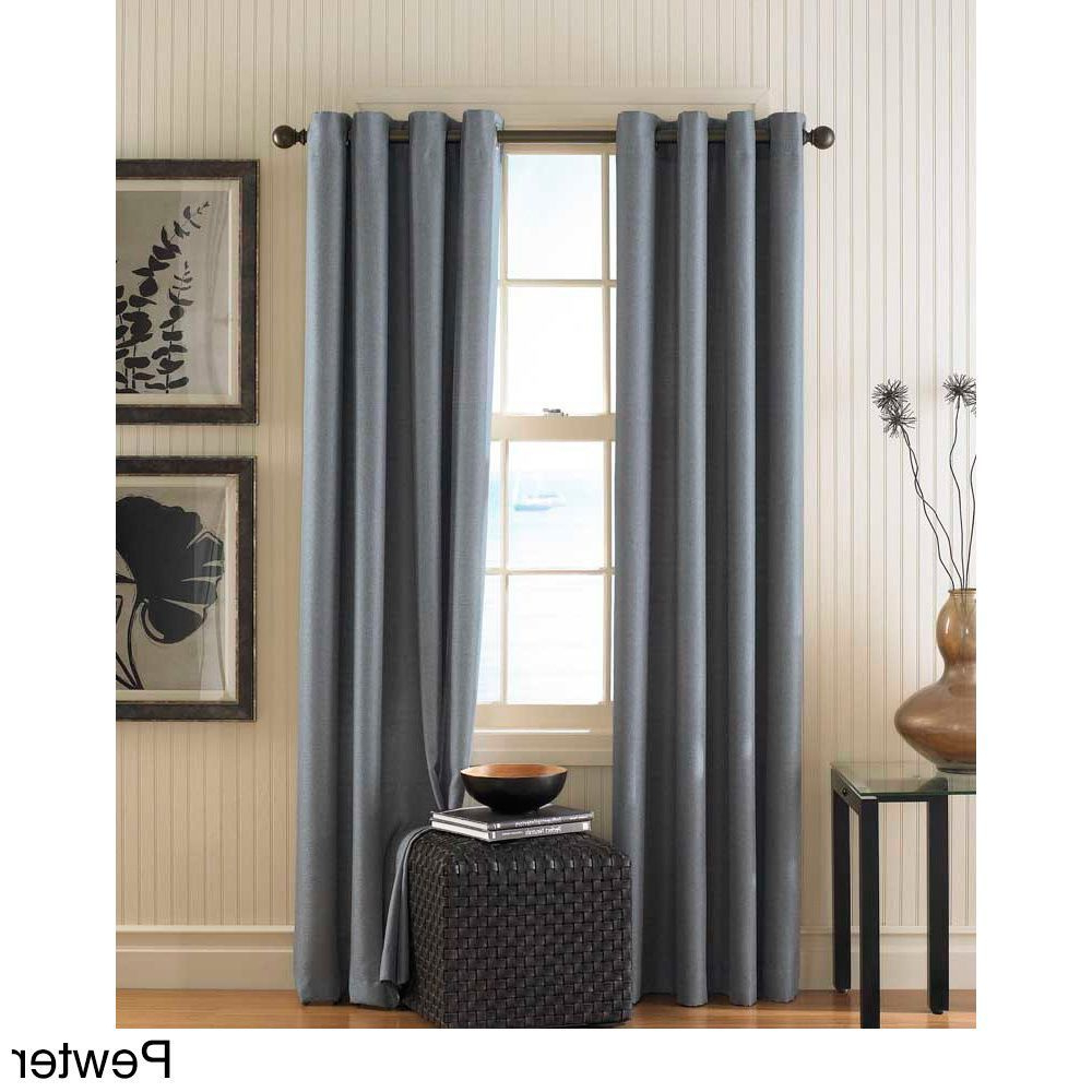 Monterey Textured Lined Grommet Curtain Panel (Pewter – 108 In Trendy Lined Grommet Curtain Panels (View 7 of 20)