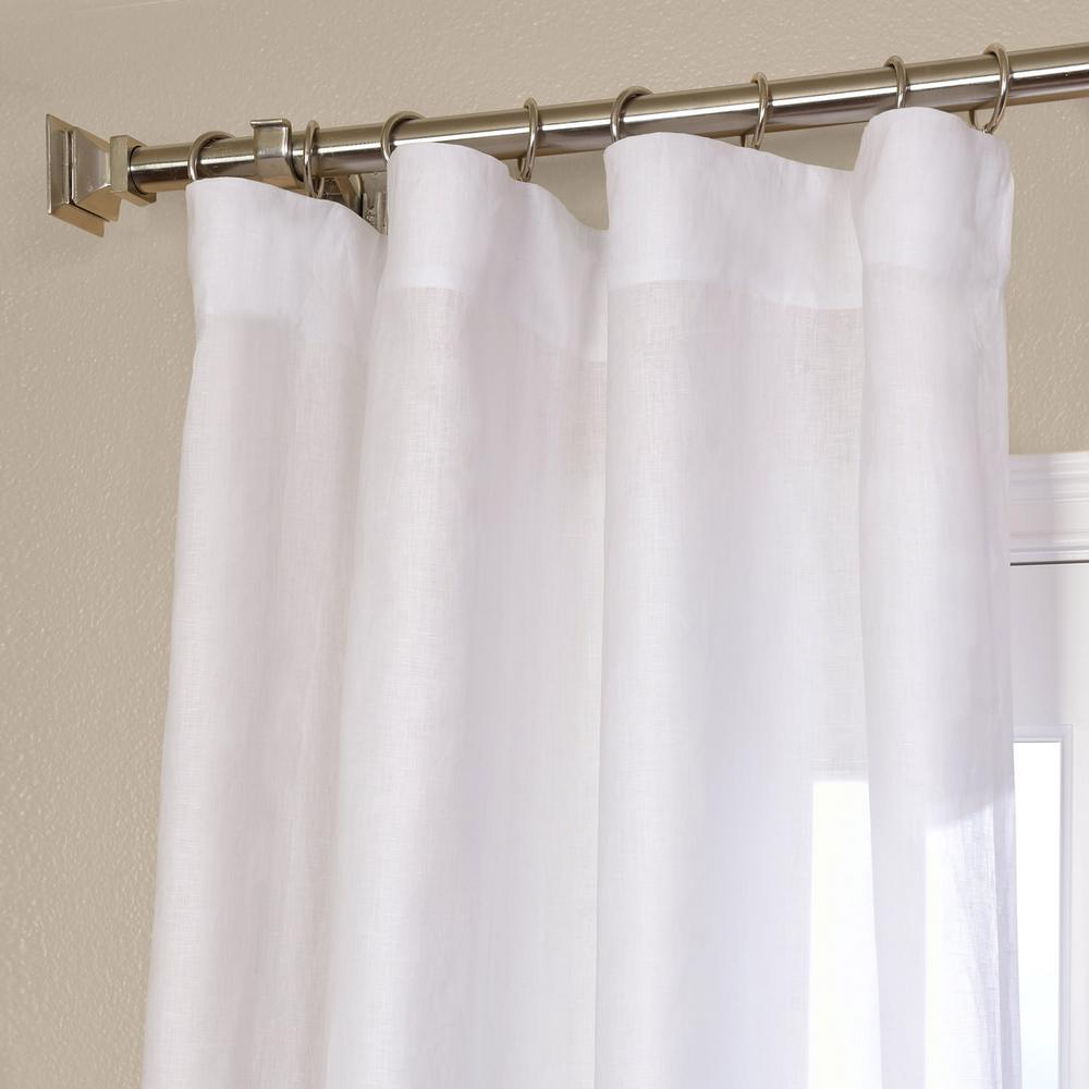 Montpellier Striped Linen Sheer Curtains Inside Most Up To Date Exclusive Fabrics & Furnishings Purity White Linen Sheer Curtain – 50 In. W X 96 In (View 17 of 20)