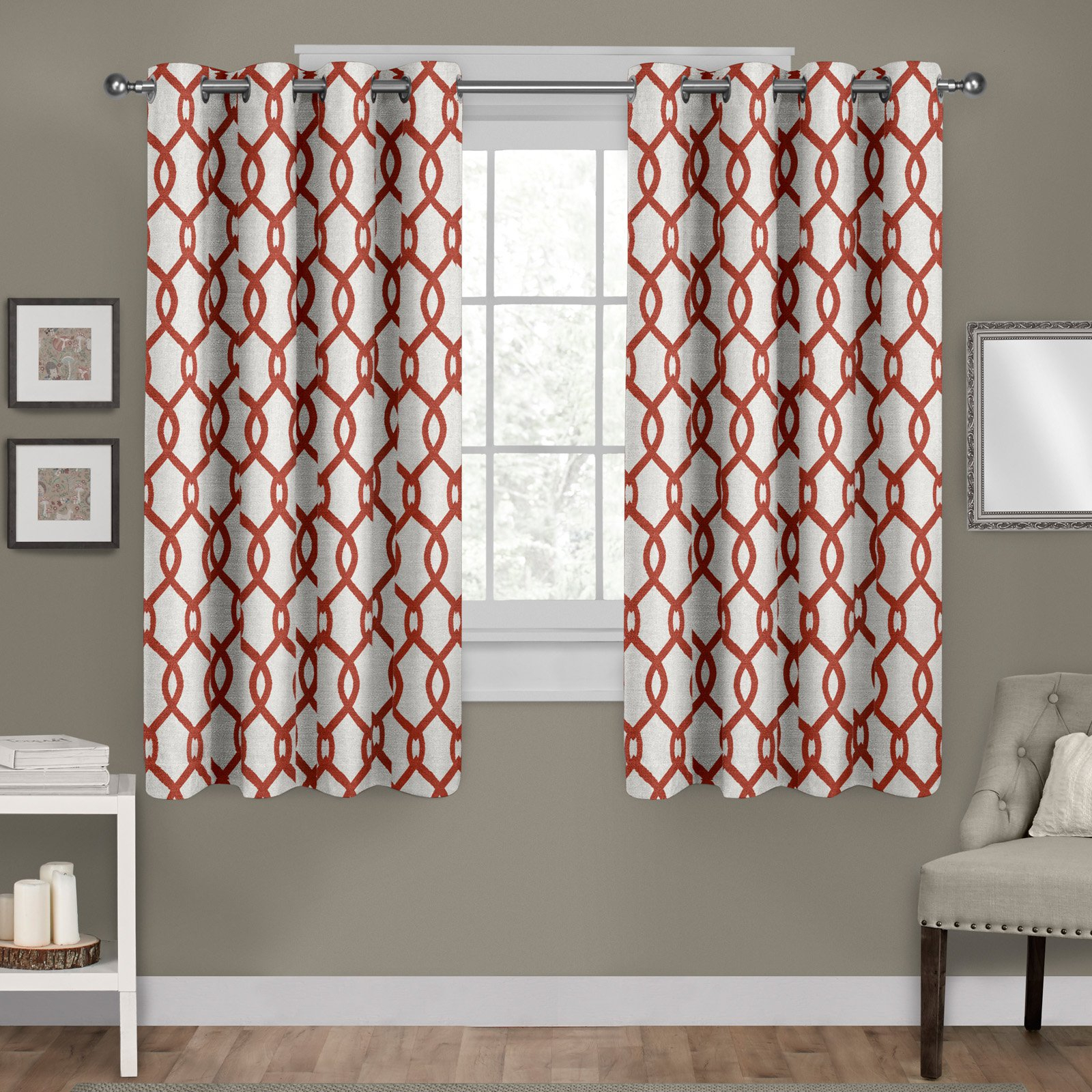 Moroccan Style Thermal Insulated Blackout Curtain Panel Pairs In Most Recent Exclusive Home Kochi Blend Window Curtain Panel Pair Mecca (Gallery 19 of 20)