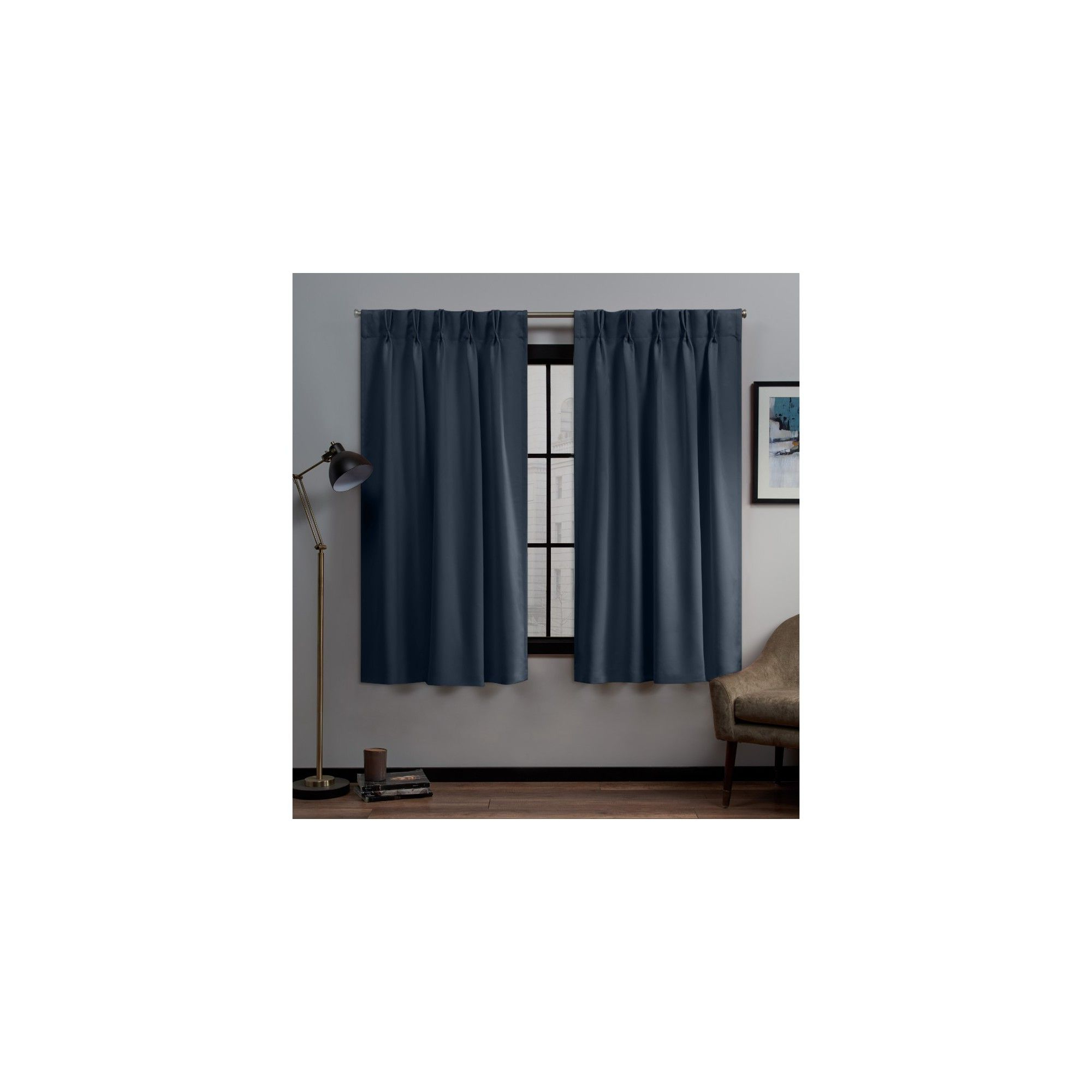"Most Current 30""x96"" Sateen Twill Woven Blackout Pinch Pleat Window With Sateen Woven Blackout Curtain Panel Pairs With Pinch Pleat Top (View 9 of 20)"