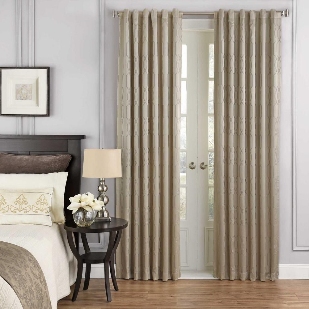Most Current Beautyrest Yvon Blackout Window Curtain Panel In Champagne Pertaining To Inez Patio Door Window Curtain Panels (Gallery 7 of 20)