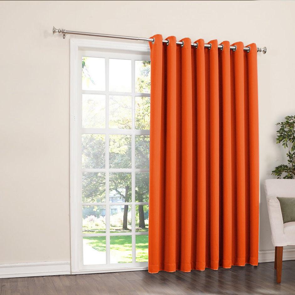 Most Current Details About Porch & Den Nantahala Rod Pocket Room Darkening Patio Door  Single Curtain Panel Regarding Inez Patio Door Window Curtain Panels (Gallery 5 of 20)