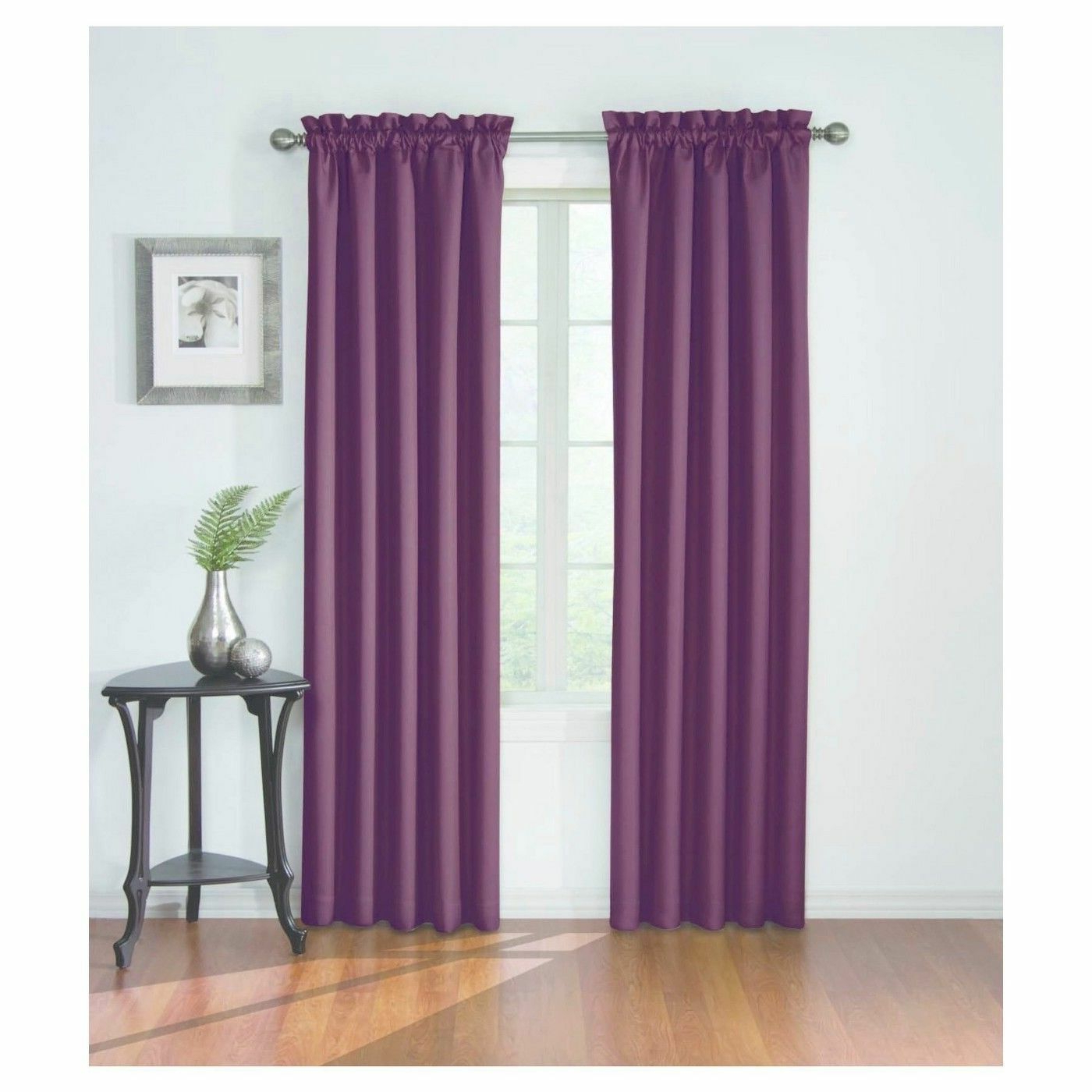 Most Current Eclipse Corinne Thermaback Blackout Window Panel – 42 X 84 Pertaining To Eclipse Corinne Thermaback Curtain Panels (View 11 of 20)