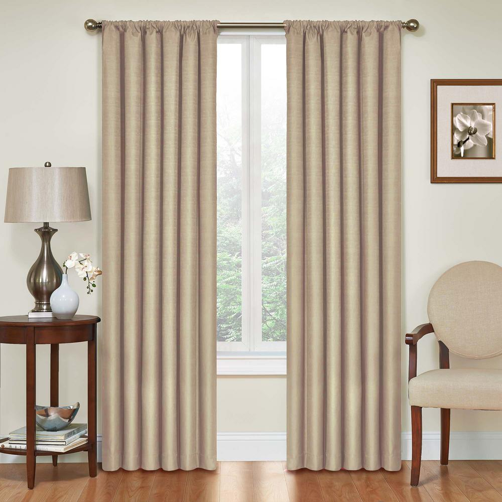 Most Current Eclipse Kendall Blackout Window Curtain Panels Inside Eclipse Kendall Blackout Window Curtain Panel In Light Grey – 42 In. W X 54 In (View 7 of 20)