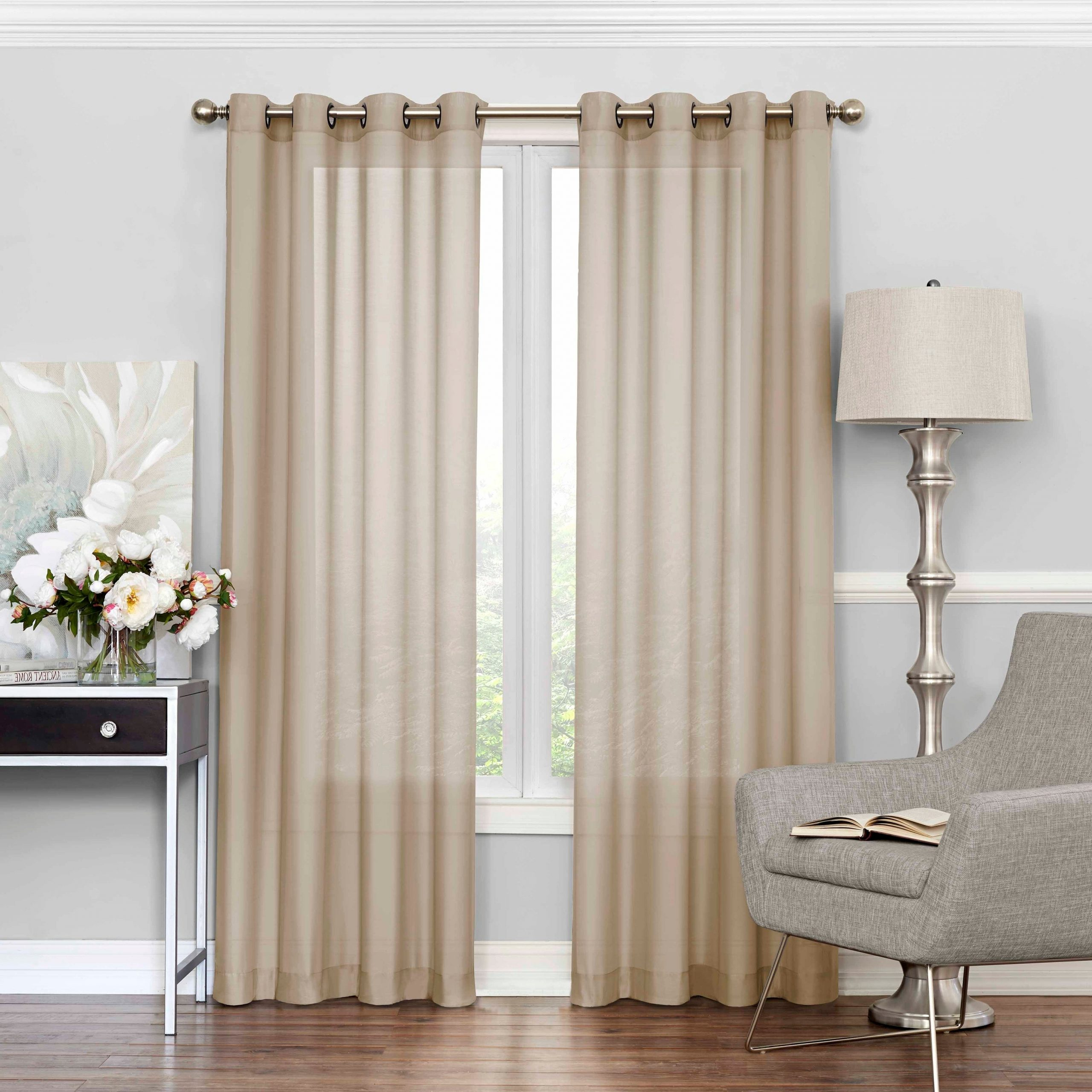 Most Current Eclipse Liberty Light Filtering Sheer Single Curtain Panel Throughout Light Filtering Sheer Single Curtain Panels (Gallery 1 of 20)