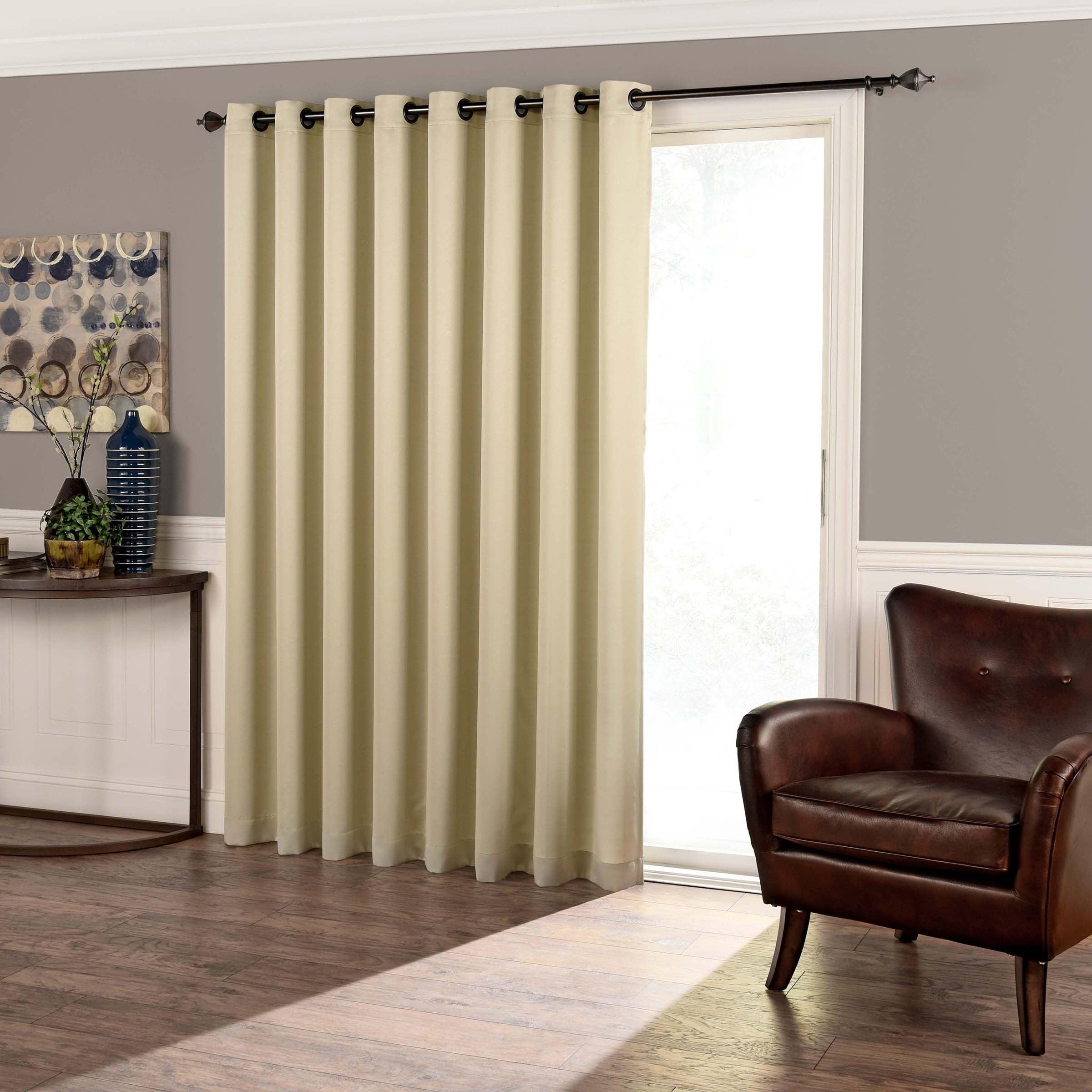 Most Current Eclipse Tricia Room Darkening Patio Door Panel – 100X84 With Regard To Nantahala Rod Pocket Room Darkening Patio Door Single Curtain Panels (Gallery 9 of 20)