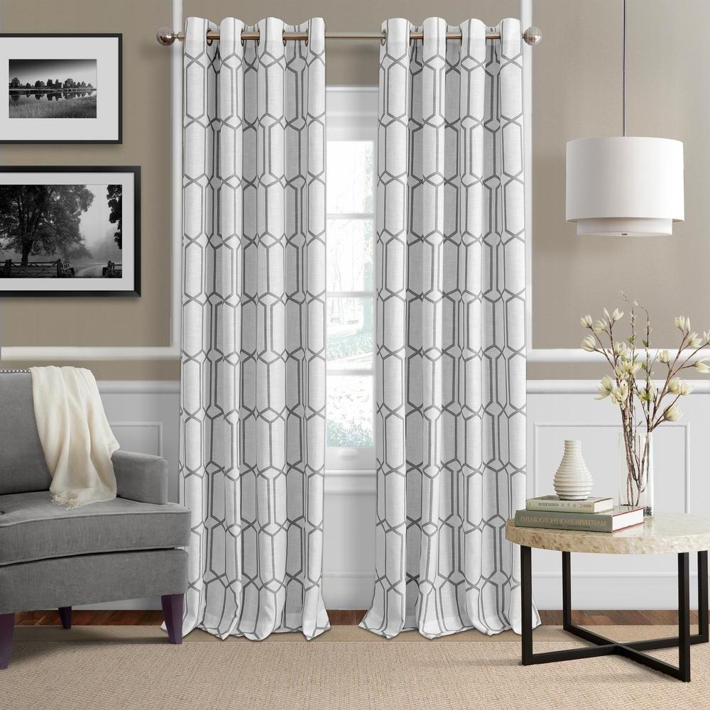 Featured Photo of Kaiden Geometric Room Darkening Window Curtains