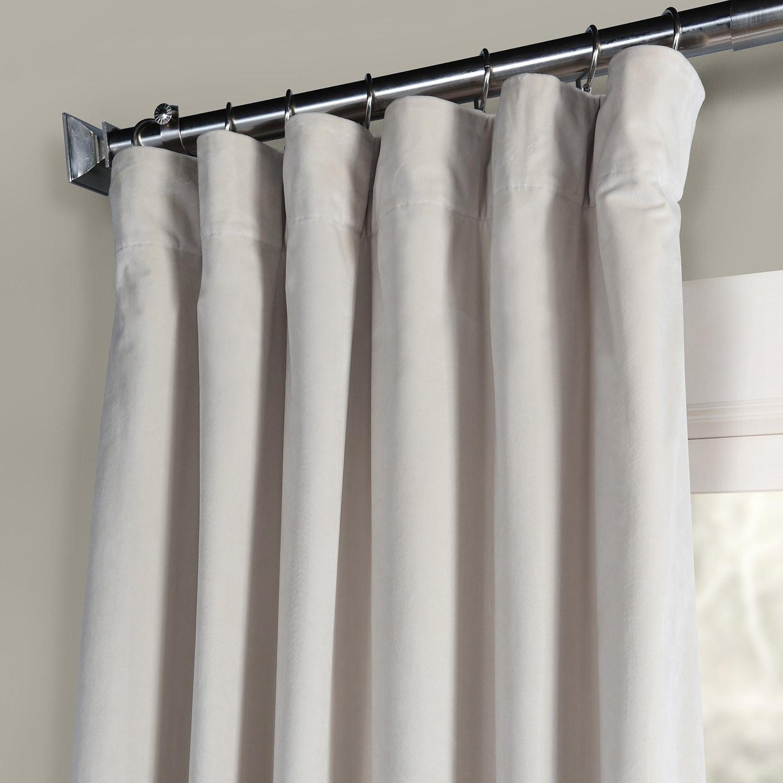 Most Current Heritage Plush Velvet Single Curtain Panels In Exclusive Fabrics Heritage Plush Velvet Single Curtain Panel (View 7 of 20)