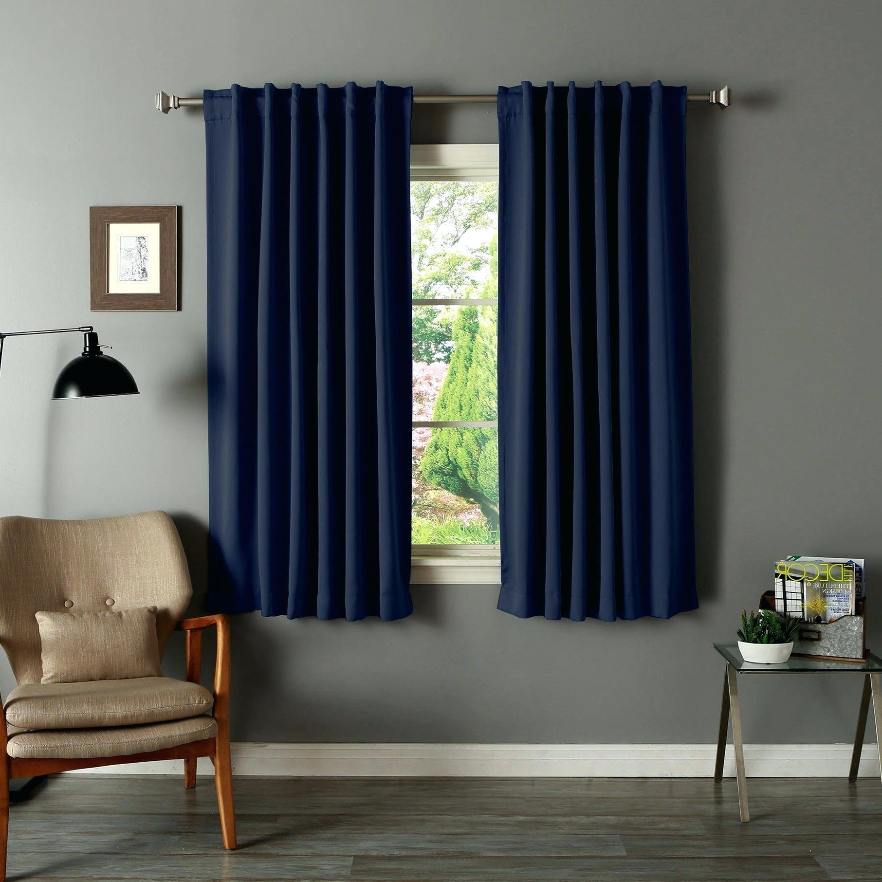 Most Current Insulated Blackout Grommet Window Curtain Panel Pairs Inside Aurora Home Solid Insulated Thermal Inch Blackout Curtain (Gallery 19 of 20)