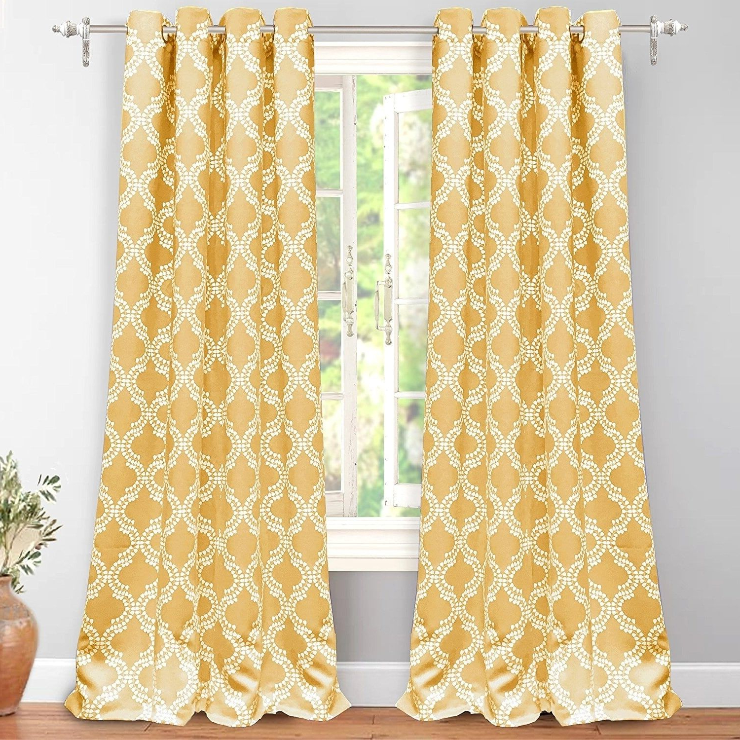 Most Current Insulated Blackout Grommet Window Curtain Panel Pairs Inside Driftaway Julianna Geometric Printed Thermal Insulated (Gallery 15 of 20)