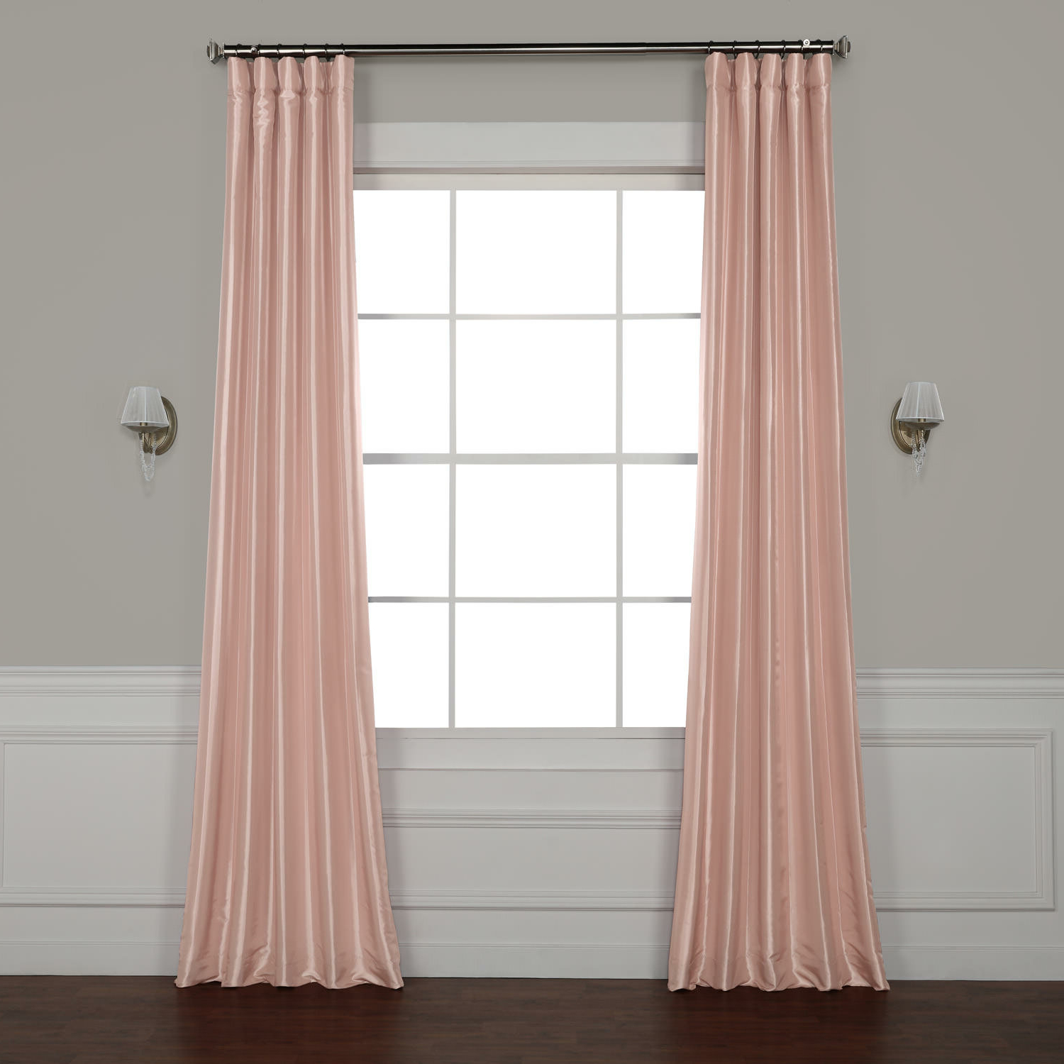 Most Current Lochleven Faux Silk Taffeta Solid Room Polyester Darkening Single Curtain Panel With Solid Faux Silk Taffeta Graphite Single Curtain Panels (View 11 of 20)