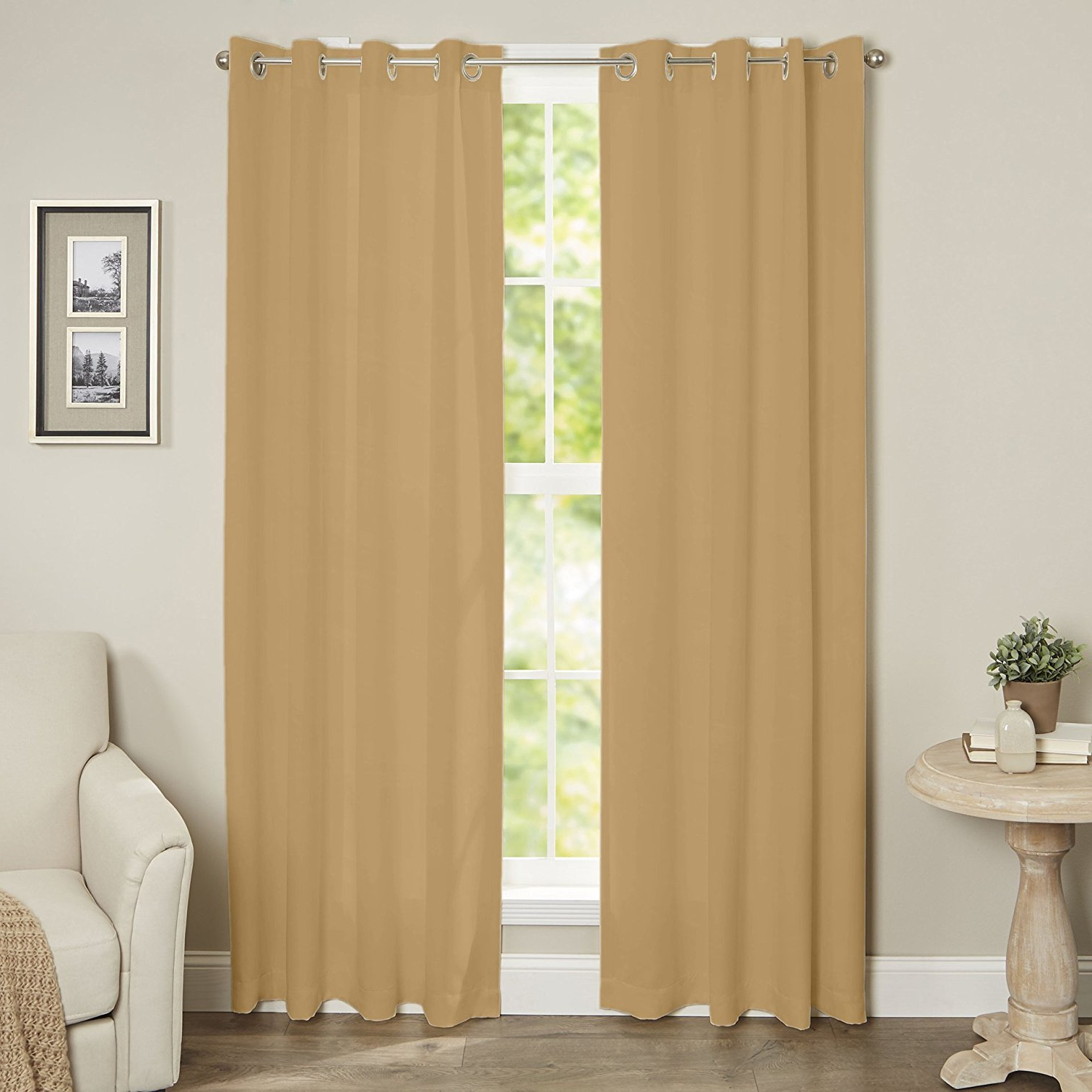 Most Current Luxury Collection Faux Leather Blackout Single Curtain Panels Regarding Amazon: E&a Linen Corp.maria's Collection Blackout (Gallery 7 of 20)