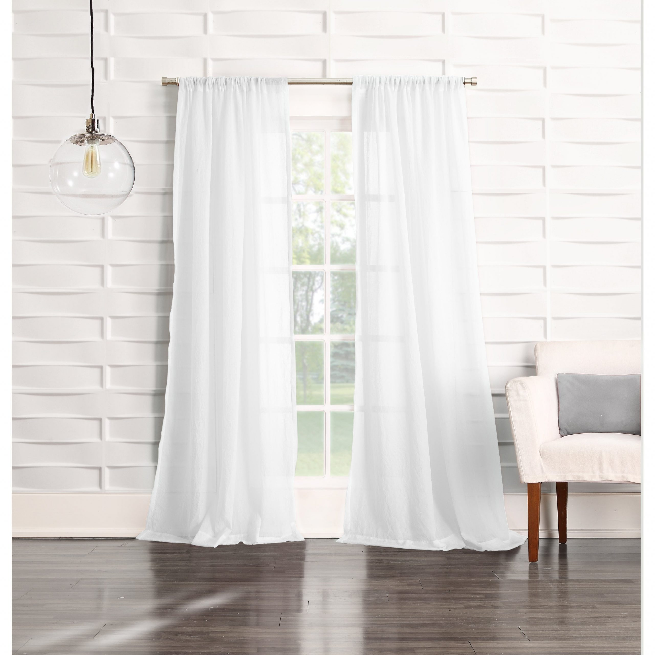 Featured Photo of Ladonna Rod Pocket Solid Semi Sheer Window Curtain Panels