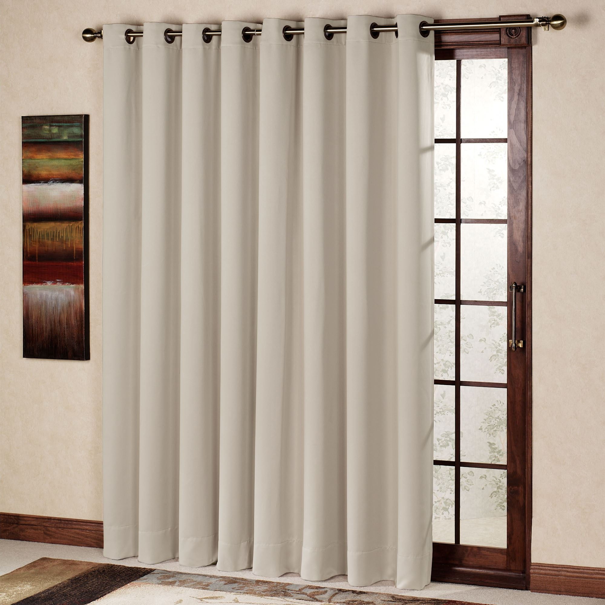 Most Current Patio Grommet Top Single Curtain Panels Pertaining To Ultimate Blackout Grommet Patio Panel (View 5 of 20)