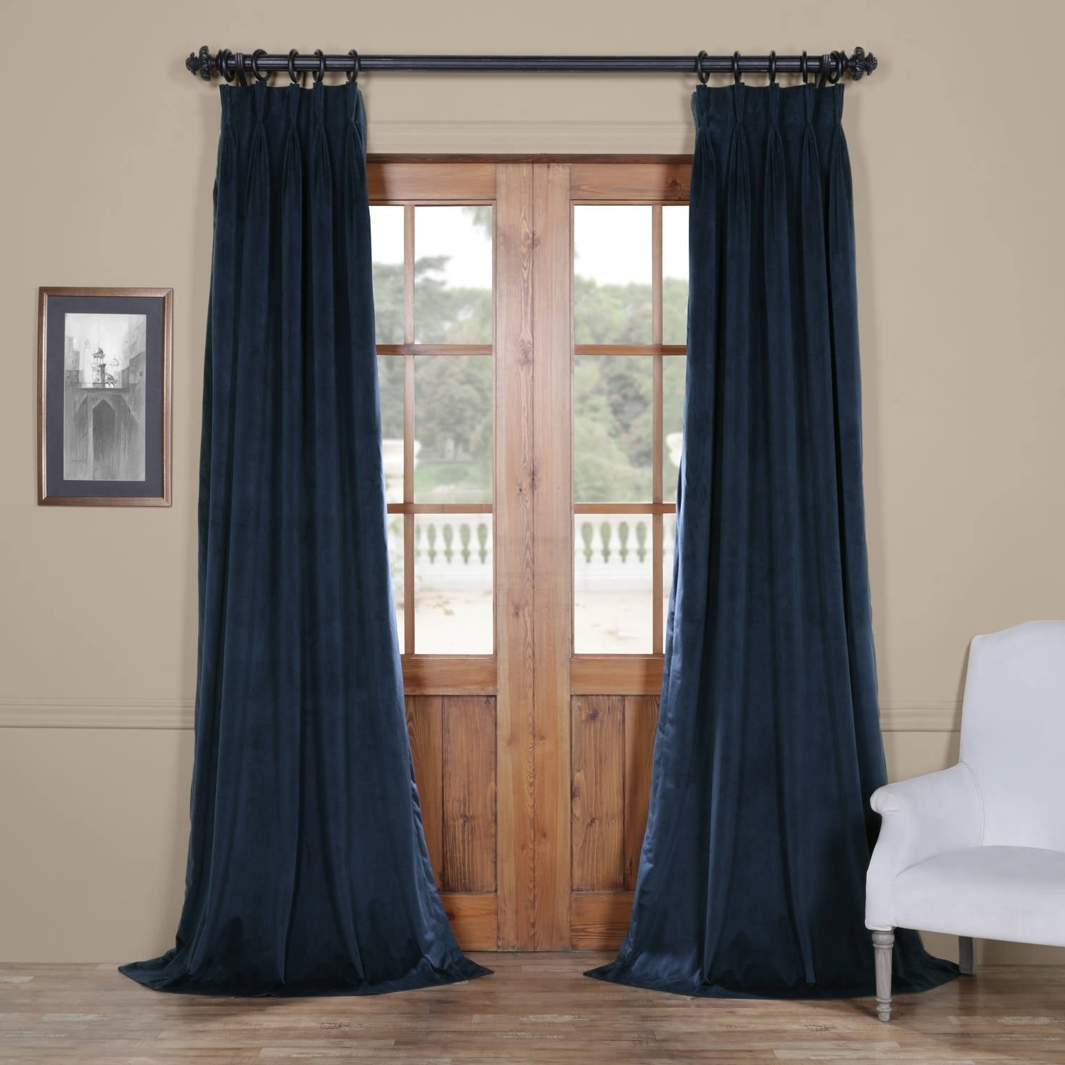 Most Current Signature Pinch Pleated Blackout Solid Velvet Curtain Panels In Exclusive Fabrics Signature Pinch Pleated Blackout Solid Velvet Curtain Panel (View 2 of 20)