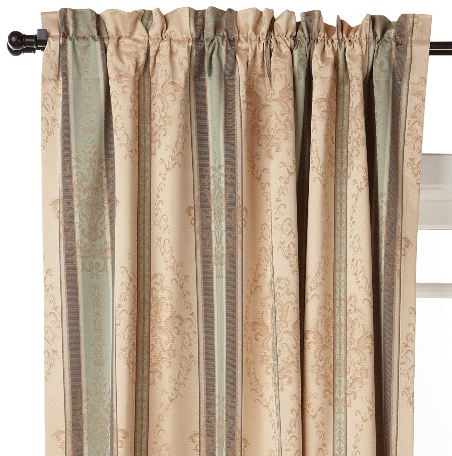 Most Current Thermatec Tuscan Stripe Thermal Backed Pole Top Panel, 52 Inch84 Inch, Autumn Intended For Tuscan Thermal Backed Blackout Curtain Panel Pairs (View 4 of 20)