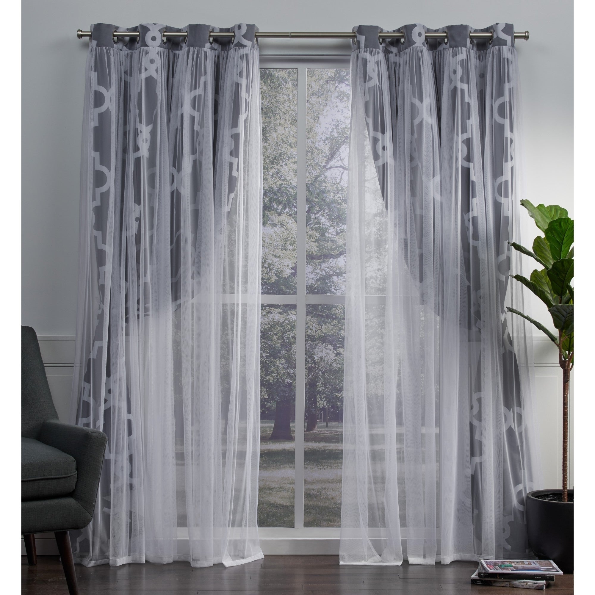 Most Current Woven Blackout Curtain Panel Pairs With Grommet Top Pertaining To Details About Ati Home Alegra Thermal Woven Blackout Grommet Top Curtain (View 11 of 20)