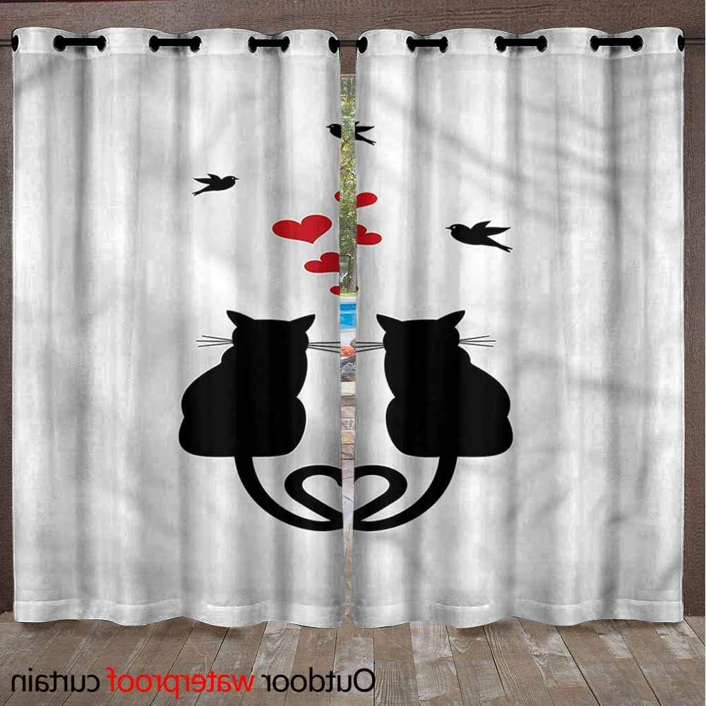 Most Popular Amazon : Andytours Home Curtains Indoor/outdoor Solid With Indoor/outdoor Solid Cabana Grommet Top Curtain Panel Pairs (Gallery 16 of 20)