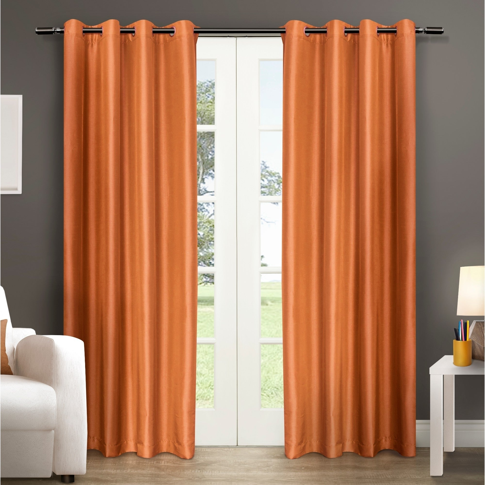 Most Popular Copper Grove Fulgence Faux Silk Grommet Top Panel Curtains – N/ A In Copper Grove Fulgence Faux Silk Grommet Top Panel Curtains (View 12 of 20)