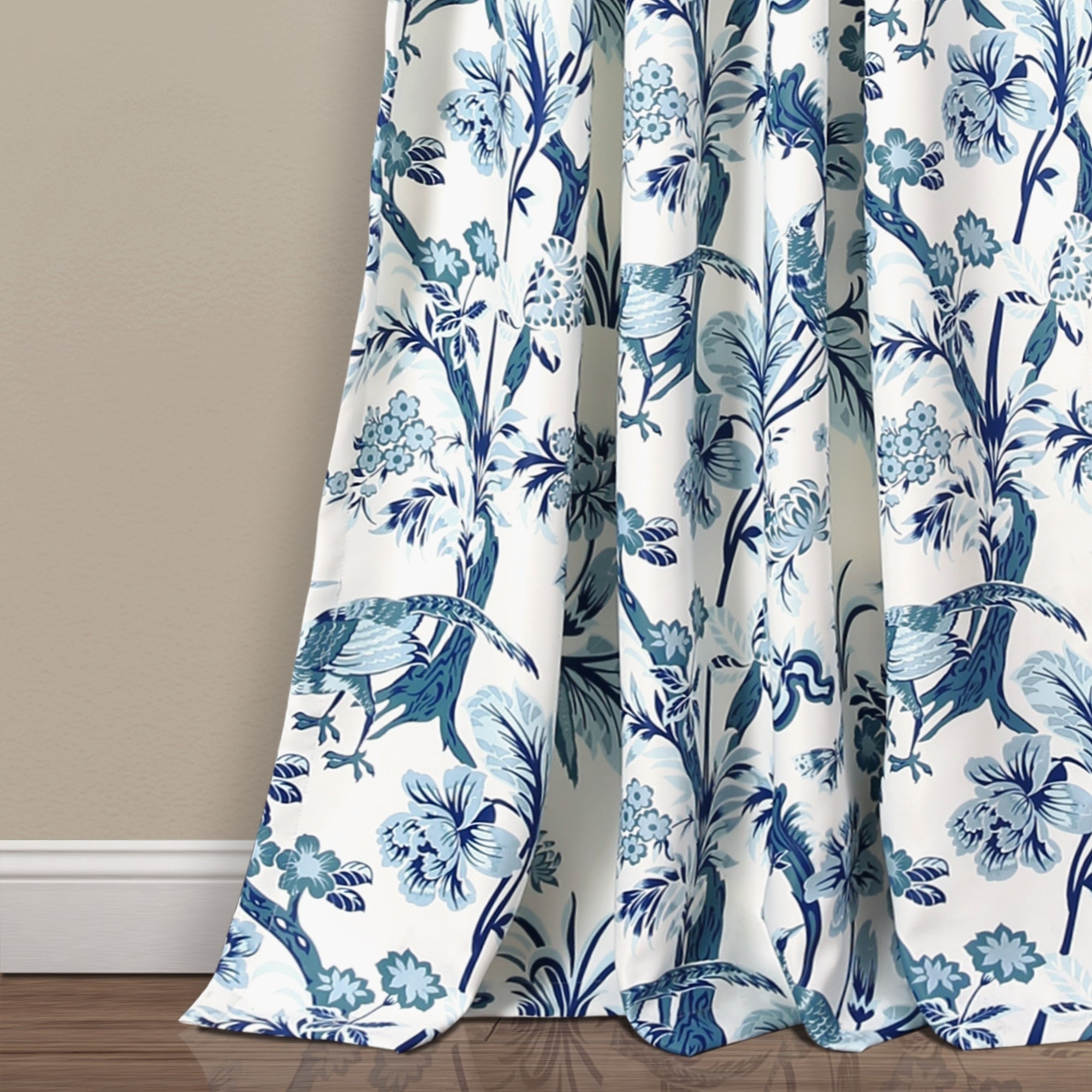 Most Popular Dolores Room Darkening Floral Curtain Panel Pairs Throughout Lush Decor Dolores Room Darkening Floral Curtain Panel Pair (Gallery 3 of 20)