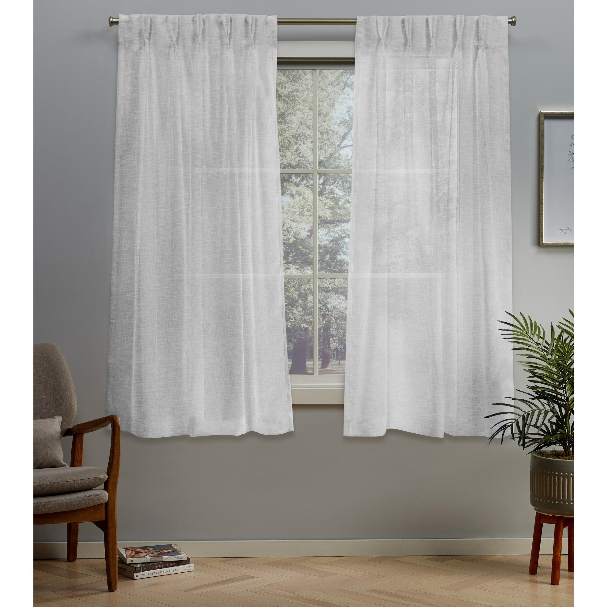 Most Popular Double Pinch Pleat Top Curtain Panel Pairs With Regard To Ati Home Belgian Jacquard Sheer Double Pinch Pleat Top Curtain Panel Pair (View 16 of 20)