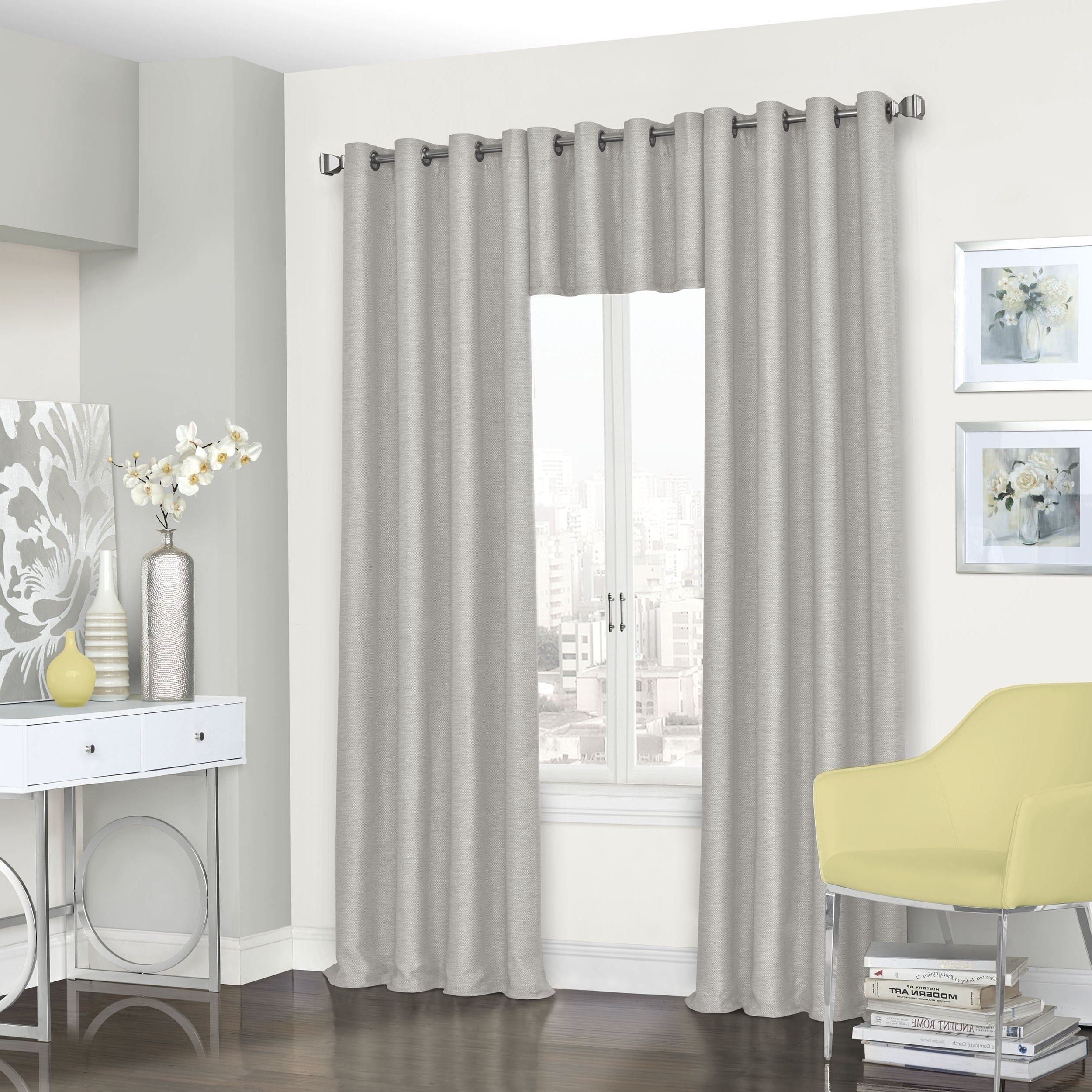 Most Popular Eclipse Trevi Blackout Grommet Window Curtain Panels Throughout Eclipse Presto Room Darkening Grommet Window Curtain Panel (Gallery 16 of 20)
