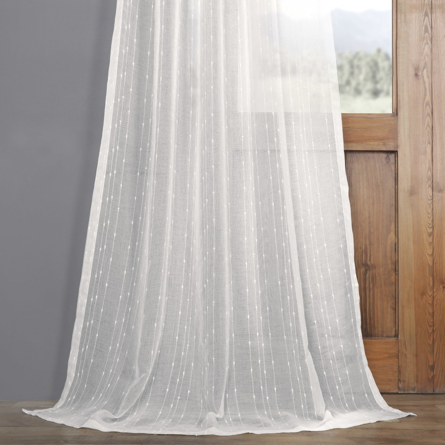 Most Popular Exclusive Fabrics Montpellier Striped Linen Sheer Curtain With Regard To Montpellier Striped Linen Sheer Curtains (View 5 of 20)