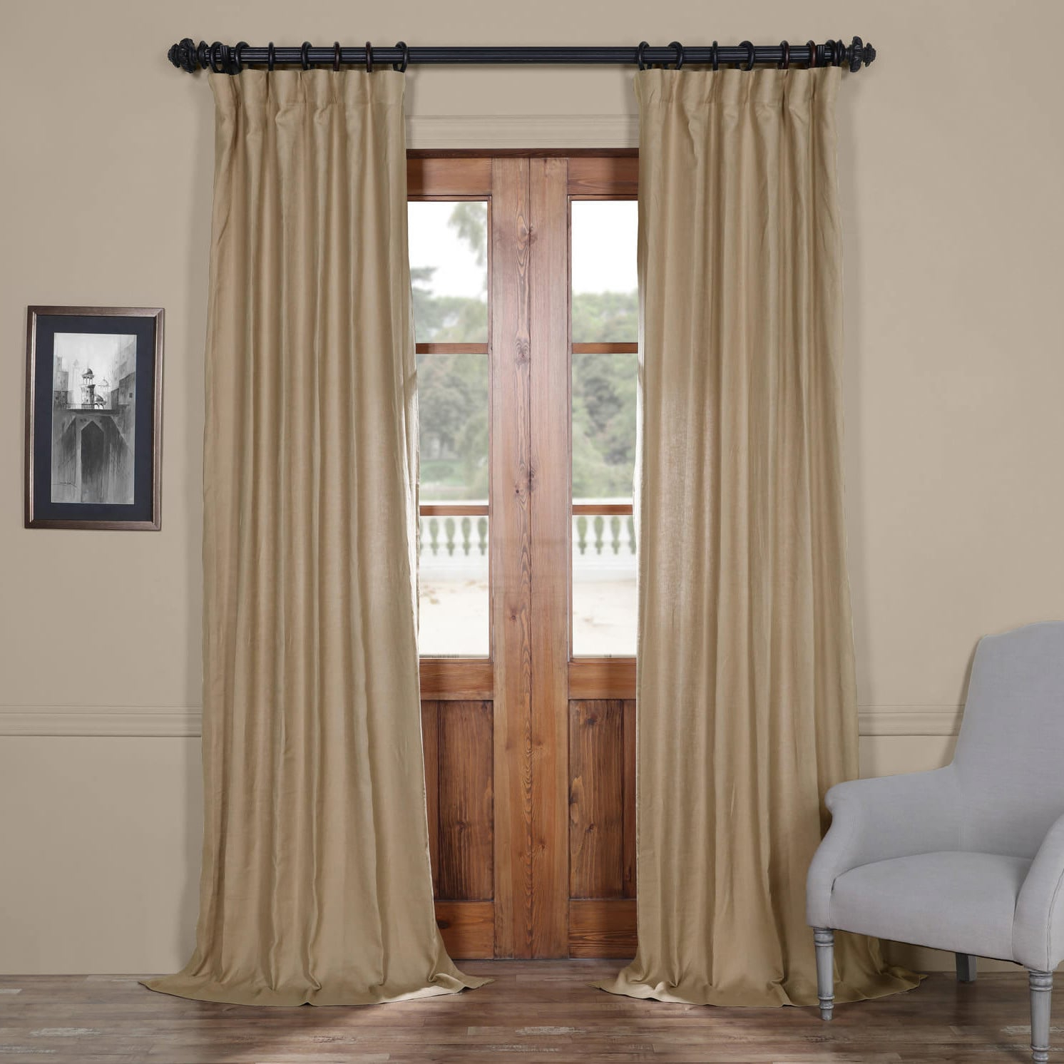 "Most Popular French Linen Lined Curtain Panels With Regard To Exclusive Fabrics French Linen Lined Curtain Panel 84""l In (View 14 of 20)"