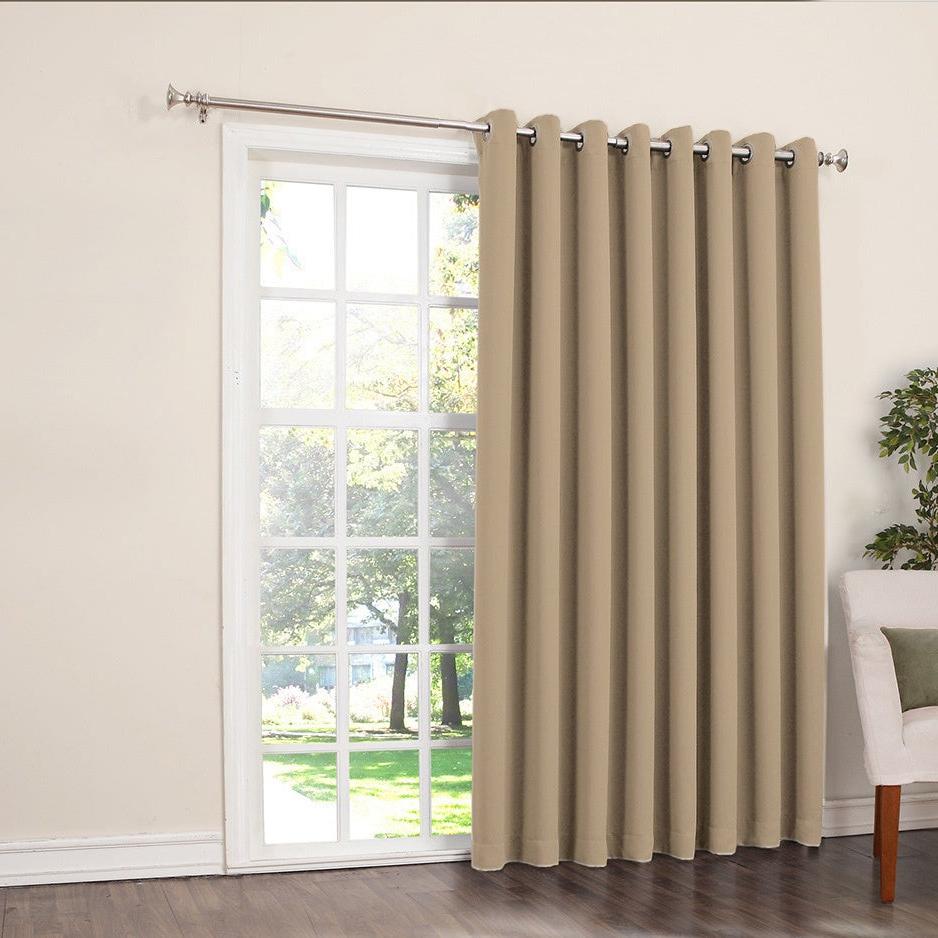Most Popular Porch & Den Nantahala Rod Pocket Room Darkening Patio Door Single Curtain  Panel Throughout Nantahala Rod Pocket Room Darkening Patio Door Single Curtain Panels (Gallery 2 of 20)