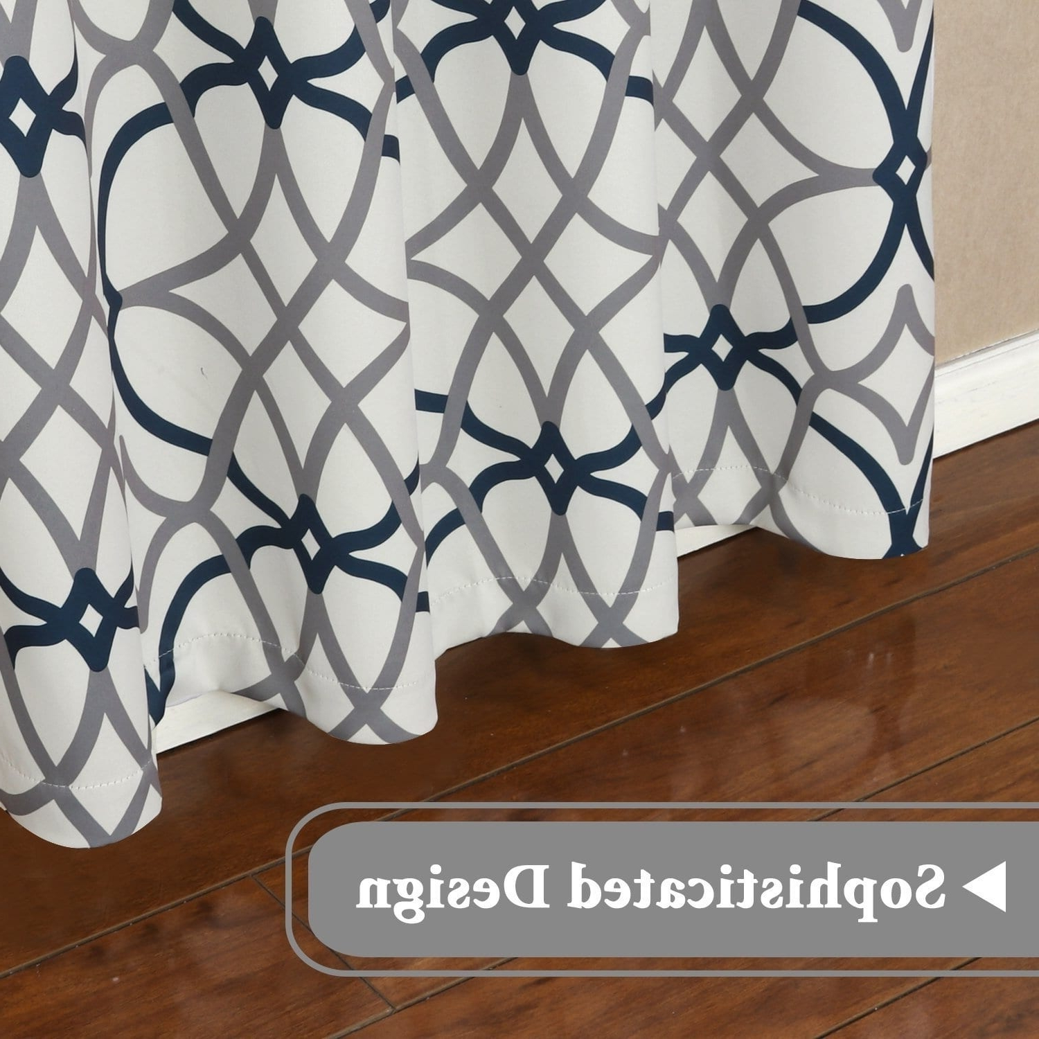 Most Popular Primebeau Geometric Pattern Blackout Curtain Pairs For Premier Home Decor Inc Primebeau Geometric Pattern Blackout Curtain Pair 2 Pack (View 11 of 20)