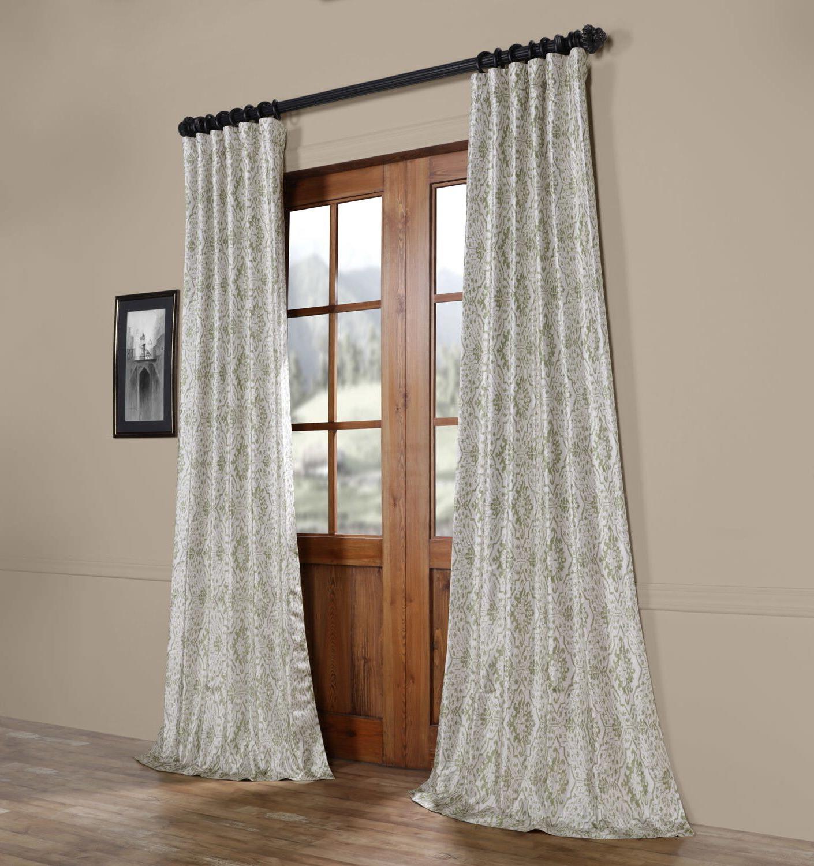 Most Popular Sandee Printed Faux Silk Taffeta Blackout Single Curtain With Faux Silk Taffeta Solid Blackout Single Curtain Panels (View 17 of 20)