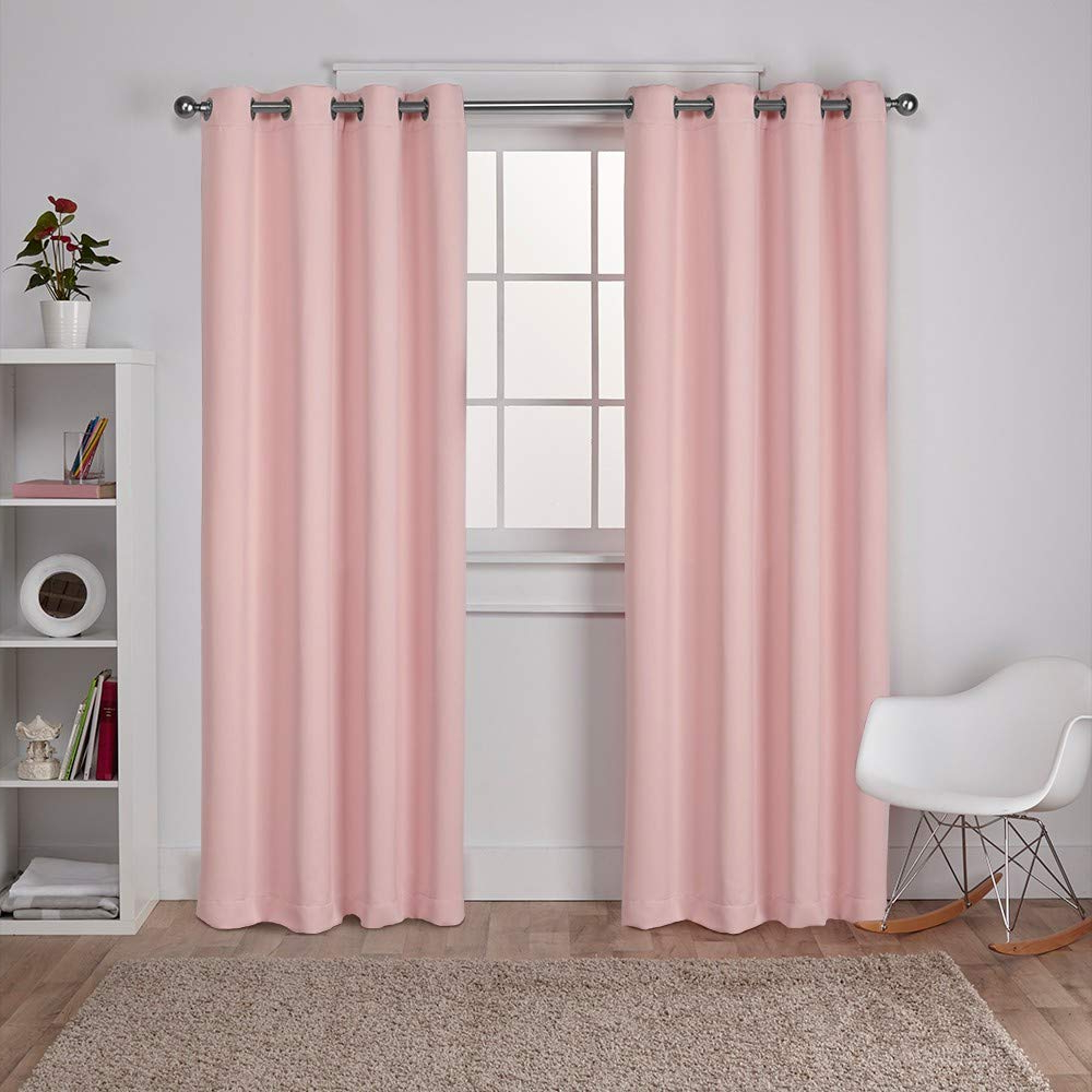 Most Popular Sateen Twill Weave Insulated Blackout Window Curtain Panel Pairs With Exclusive Home Curtains Sateen Twill Weave Blackout Window Curtain Panel Pair With Grommet Top, 52X84, Blush, 2 Piece (View 6 of 20)