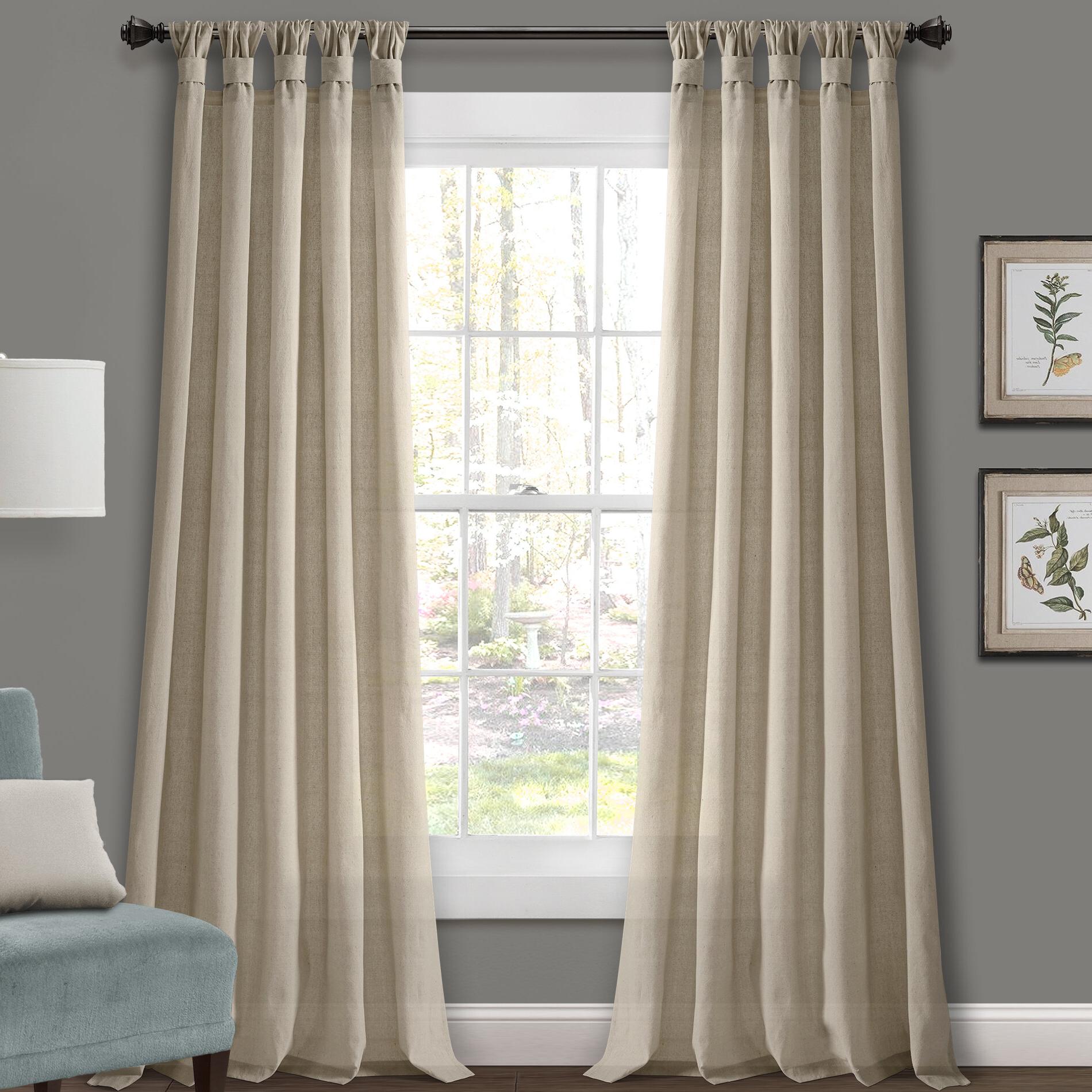 Most Popular Softline Trenton Grommet Top Curtain Panels In Canvas Linen Look 84 Drapes (View 20 of 20)