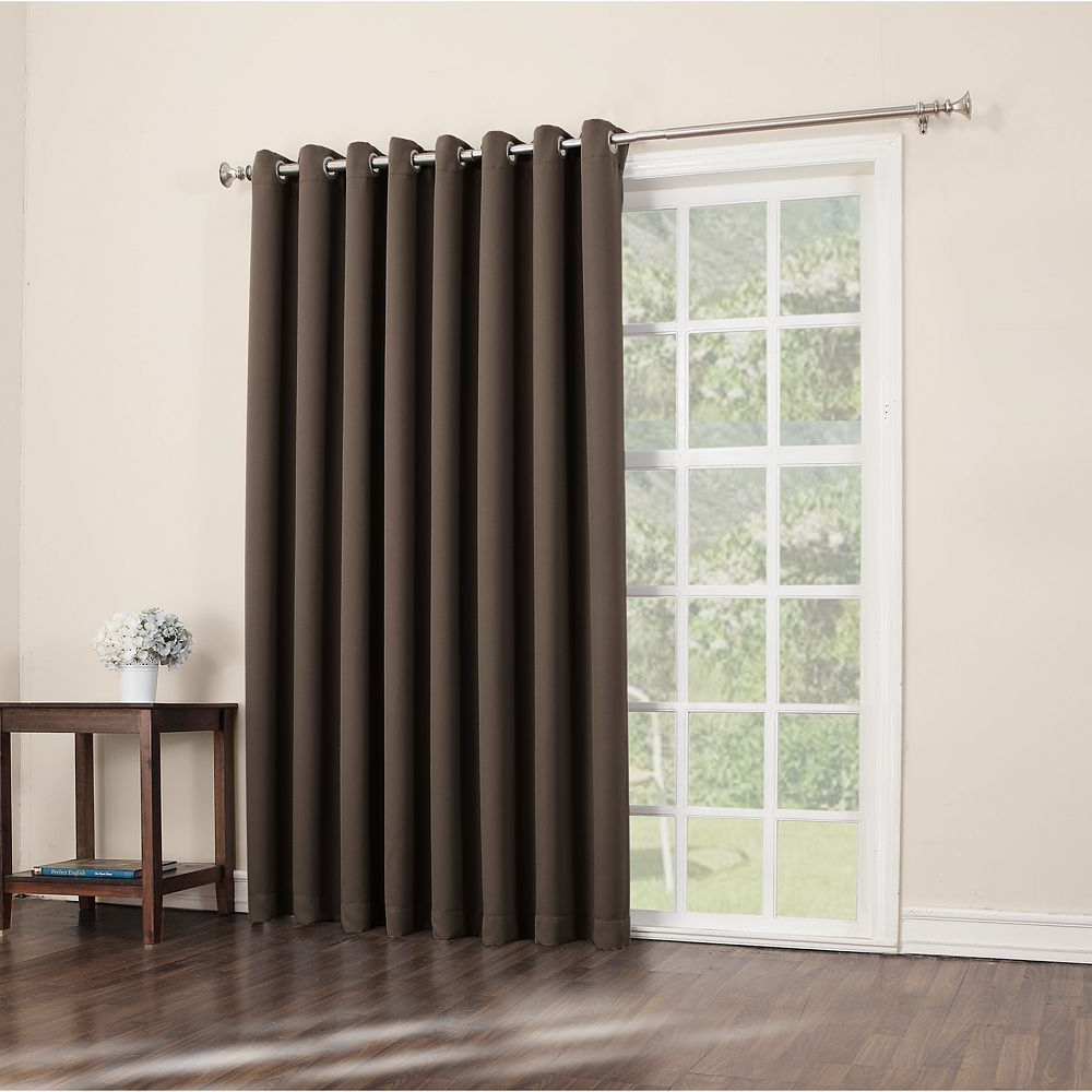 Most Popular Sun Zero Blackout 1 Panel Ludlow Patio Door Window Curtain Regarding Grommet Blackout Patio Door Window Curtain Panels (Gallery 16 of 20)