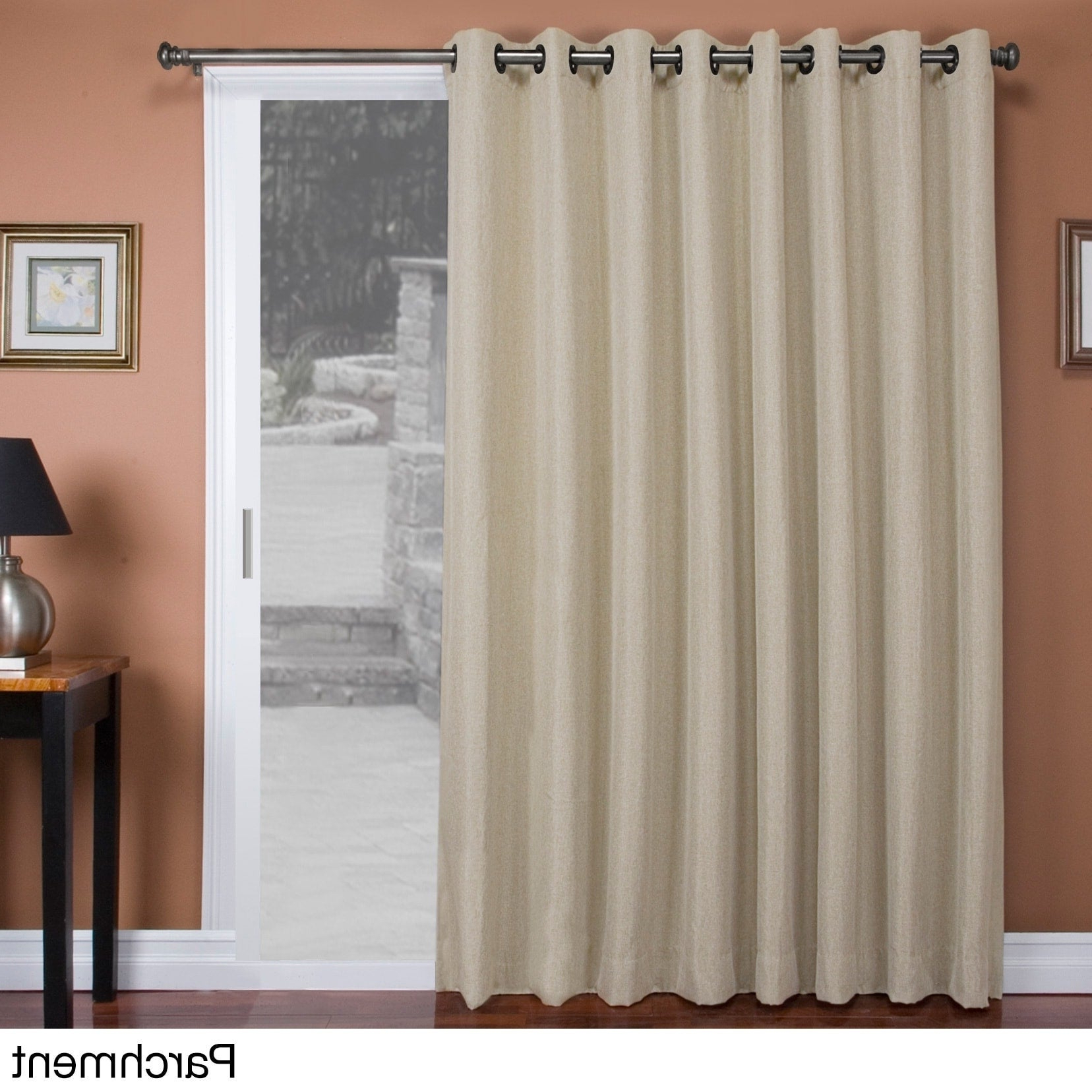 "Most Popular Tacoma Double Blackout Grommet Curtain Panels Within Tacoma Double Blackout Grommet Patio Curtain Panel – 106""w X 84""l (View 2 of 20)"