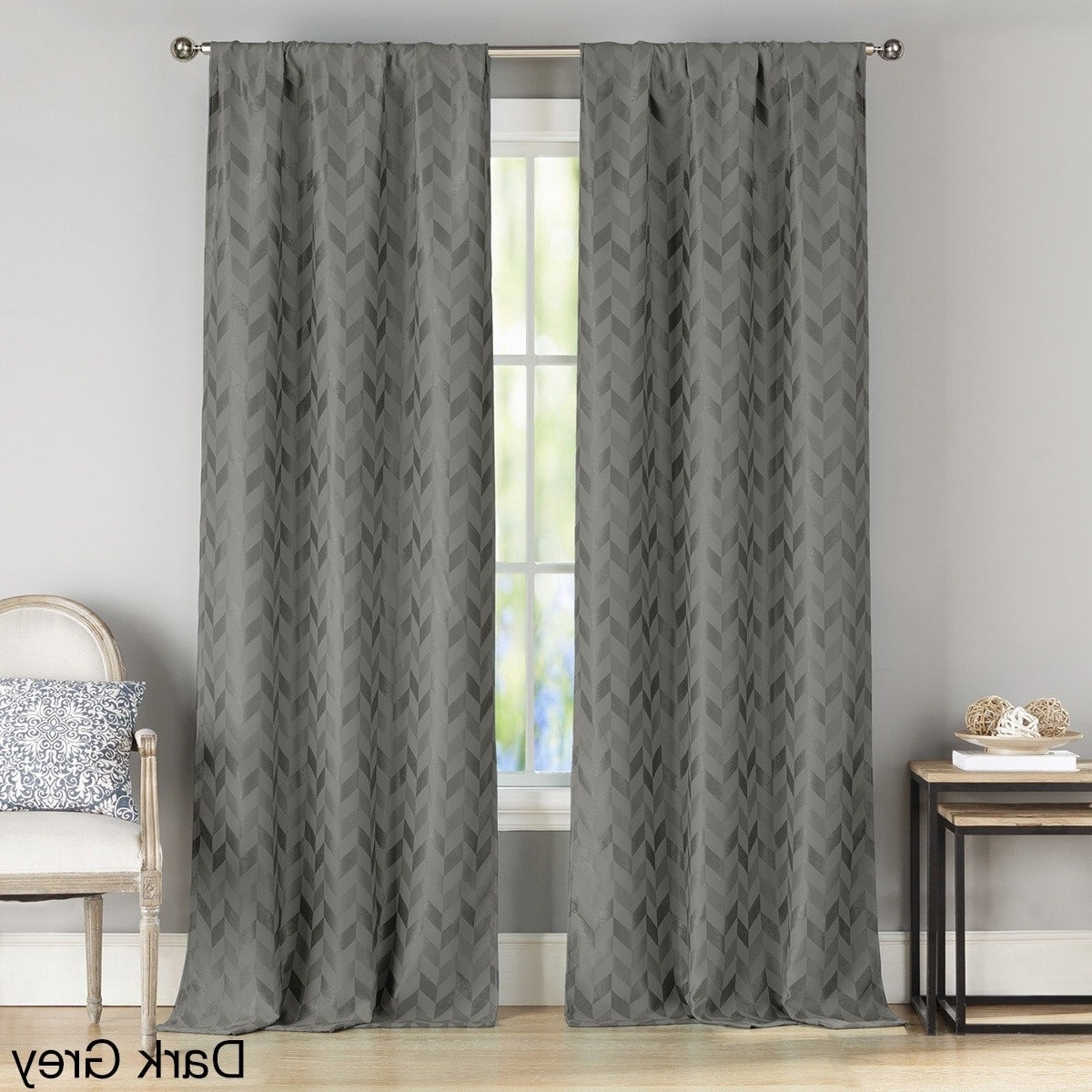 Most Popular Tuscan Thermal Backed Blackout Curtain Panel Pairs Throughout Duck River Joyce Metallic Blackout Curtain Panel Pair (View 12 of 20)