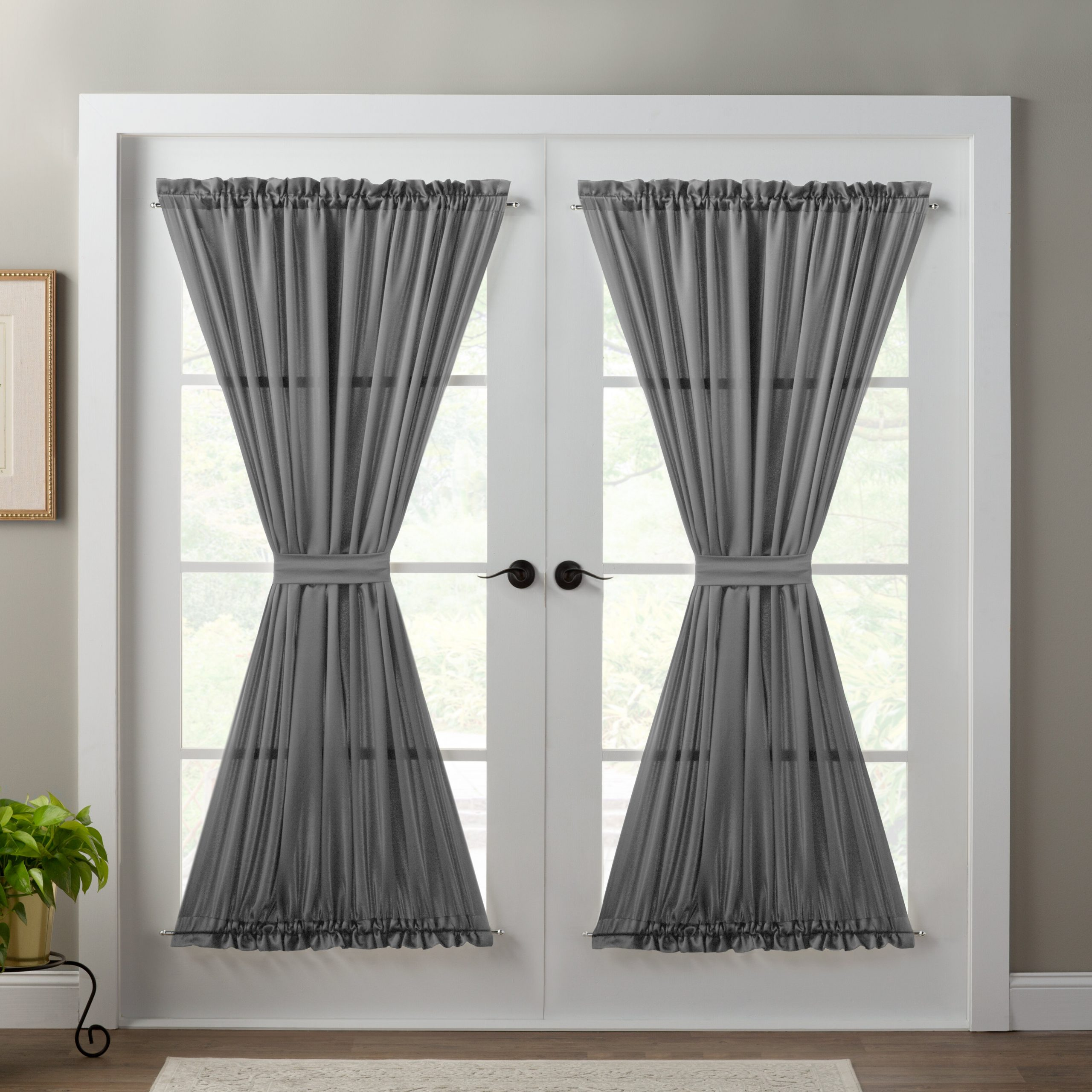 Most Popular Wayfair Basics Solid Room Darkening Thermal Rod Pocket Inside Emily Sheer Voile Solid Single Patio Door Curtain Panels (Gallery 8 of 20)