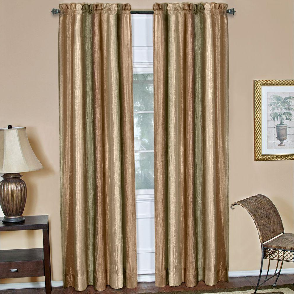 Most Recent Achim Semi Opaque Ombre Earth Polyester Panel Curtain – 50 In. W X 84 In (View 7 of 20)