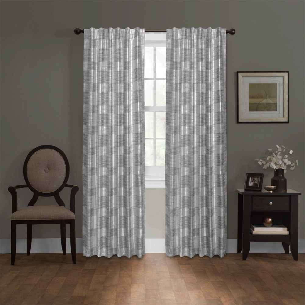 "Most Recent Daniels Platinum Blackout Smart Curtain Panel Gray 50""x84 With Regard To Jacob Tab Top Single Curtain Panels (View 19 of 20)"