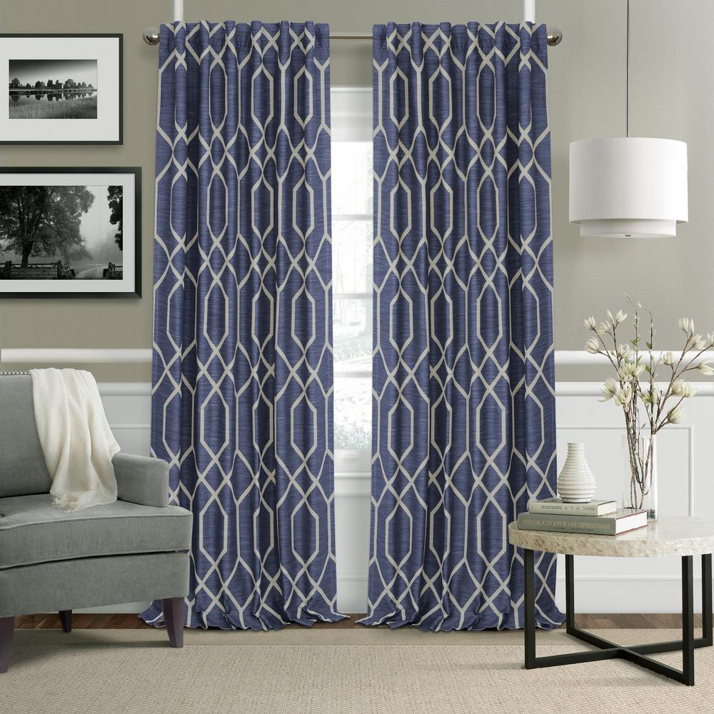 Most Recent Elrene Mia Jacquard Blackout Curtain Panels For Elrene Devin Geometric Room Darkening Window Curtain (Gallery 16 of 20)