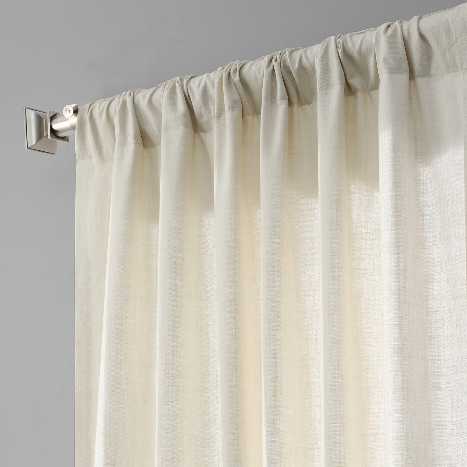 Most Recent Exclusive Fabrics Solid Country Cotton Linen Weave Curtain Panel With Solid Country Cotton Linen Weave Curtain Panels (View 4 of 20)