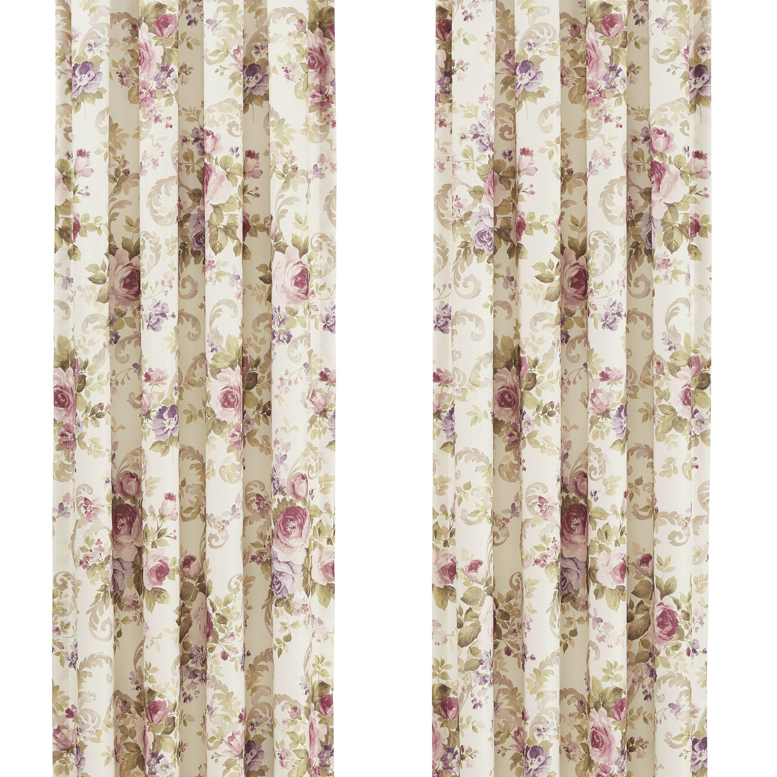 Most Recent Floral Pattern Room Darkening Window Curtain Panel Pairs Regarding Ronaldo Window Floral / Flower Room Darkening Rod Pocket Curtain Panels (View 17 of 20)