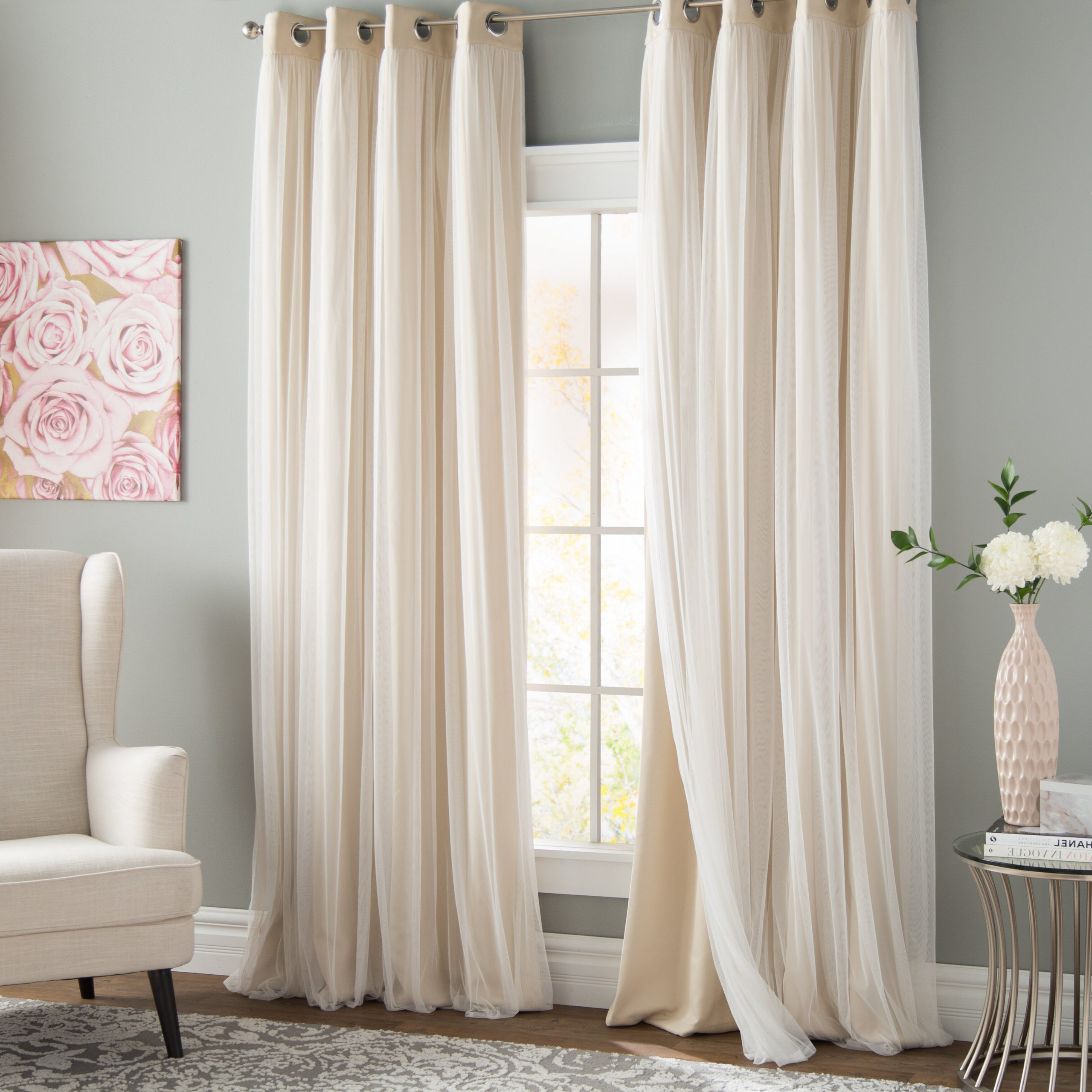 Most Recent Grommet Curtain Panels With Brockham Solid Blackout Thermal Grommet Curtain Panels (Gallery 5 of 20)
