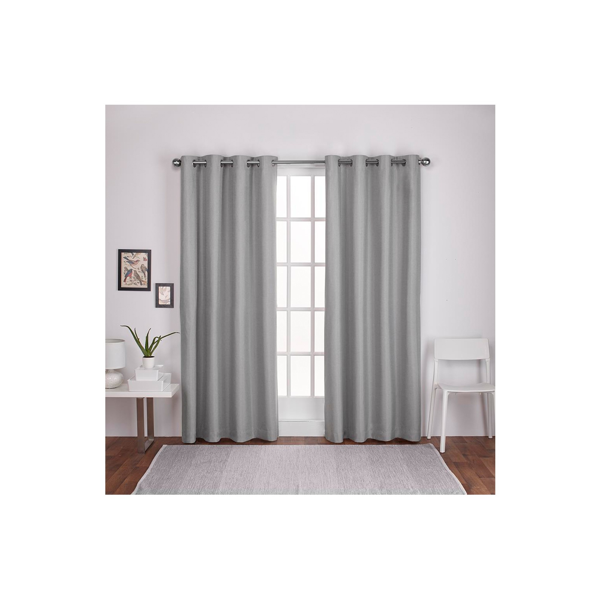 Most Recent London Thermal Textured Linen Grommet Top Window Curtain For Thermal Textured Linen Grommet Top Curtain Panel Pairs (View 5 of 20)