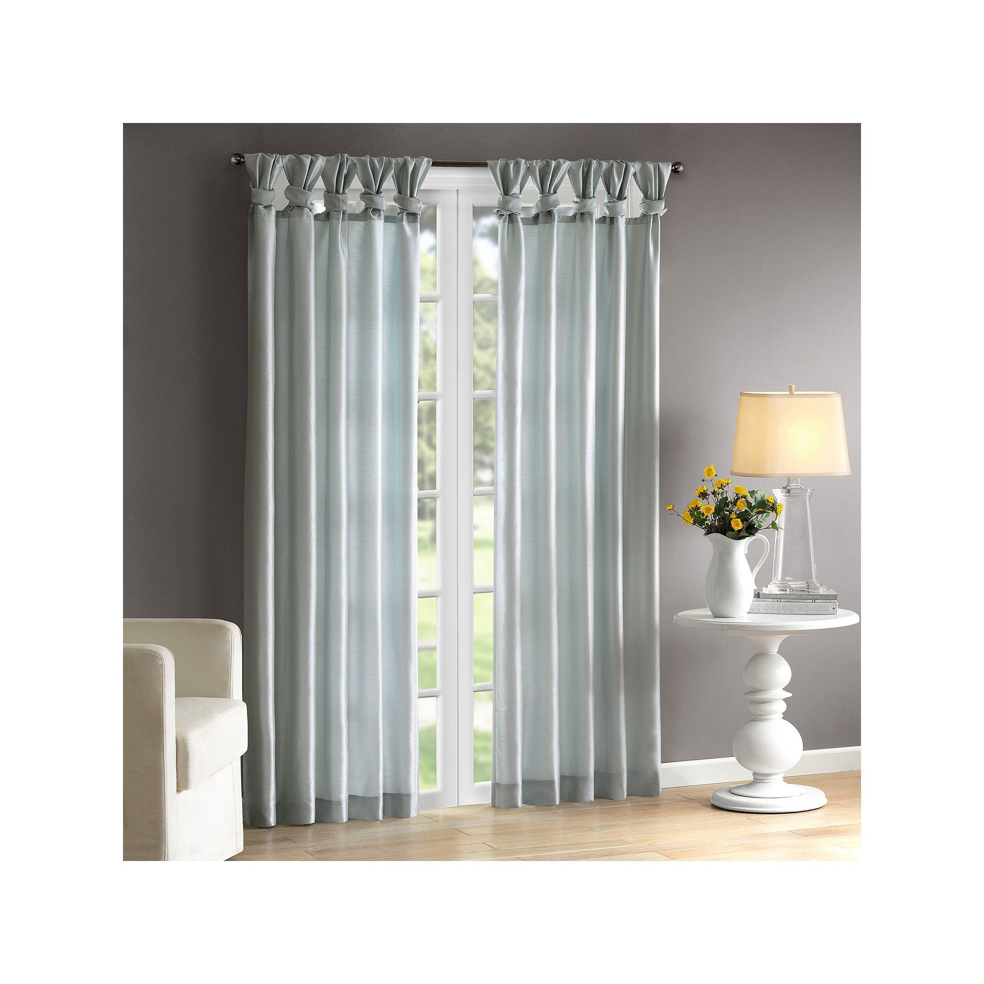 Most Recent Madison Home Usa 1 Panel Natalie Twisted Tab Lined Window In Twisted Tab Lined Single Curtain Panels (View 16 of 20)