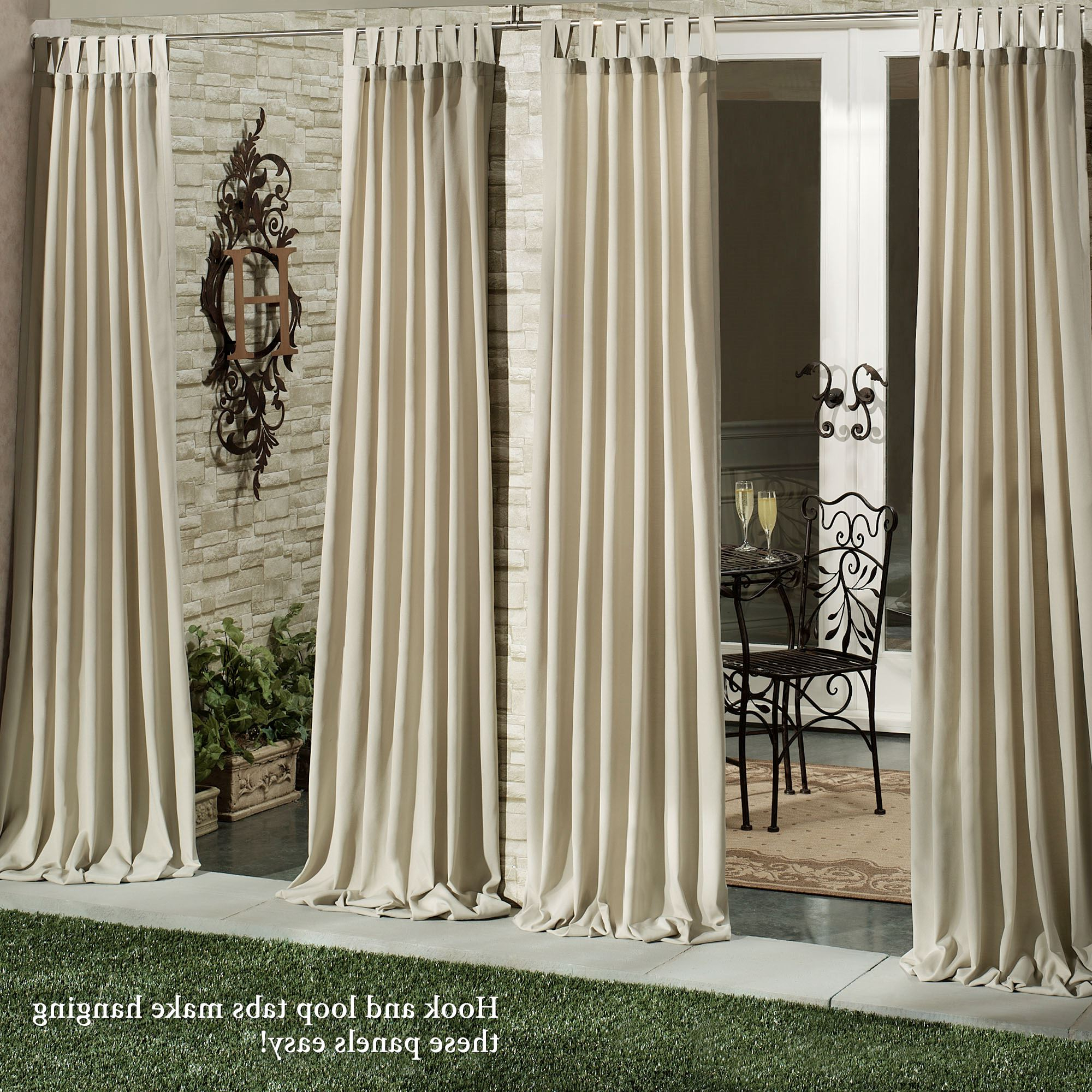 Most Recent Matine Indoor/outdoor Curtain Panels For Matine Indoor Outdoor Tab Top Curtain Panels (View 4 of 20)