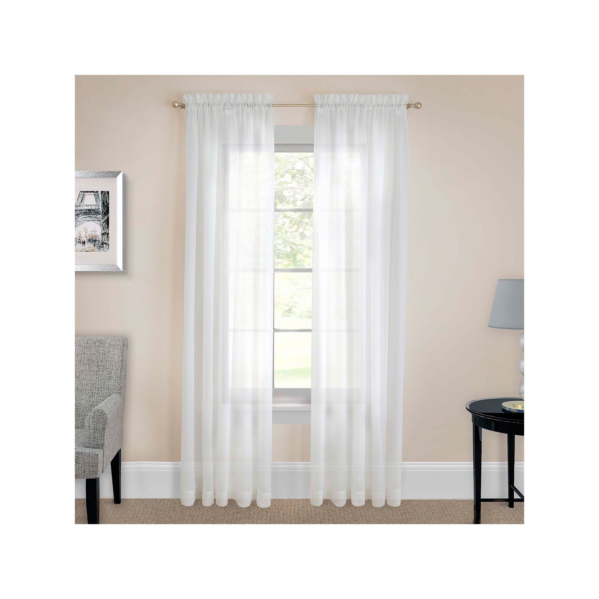 Most Recent Pairs To Go Victoria Voile Curtain Panel Pairs Within Pairs To Go 2 Pack Victoria Voile Window Curtains, White (Gallery 11 of 20)