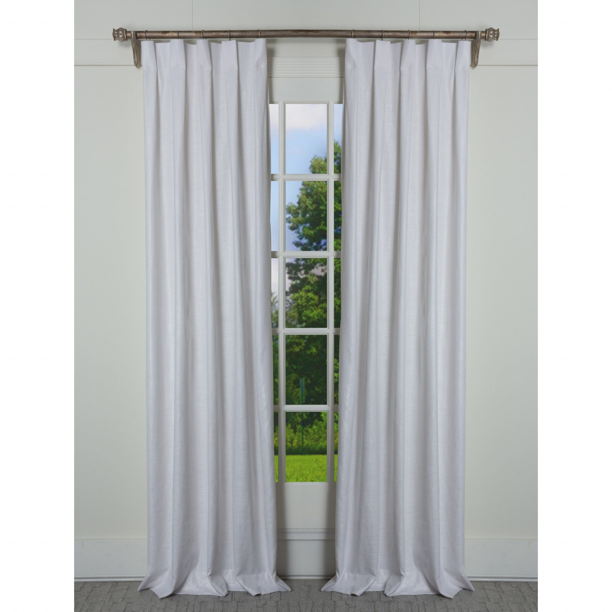 Most Recent Porch & Den Easystreet Metallic Cotton Box Pleated Single Curtain Panel Throughout Solid Cotton Pleated Curtains (View 12 of 20)