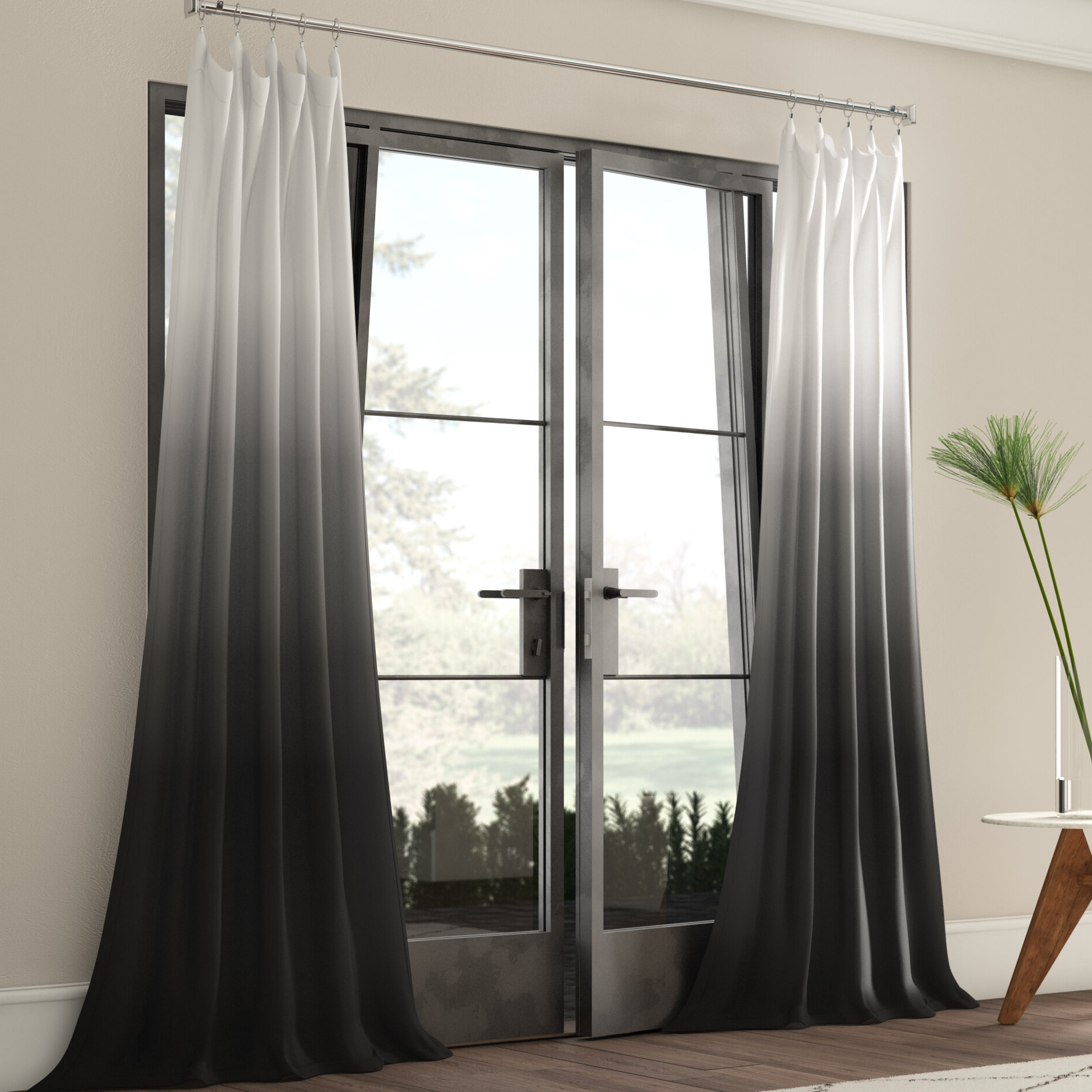 Most Recent Single Curtain Panels Intended For Winterbourne Synthetic Semi Sheer Rod Pocket Single Curtain Panel (View 5 of 20)