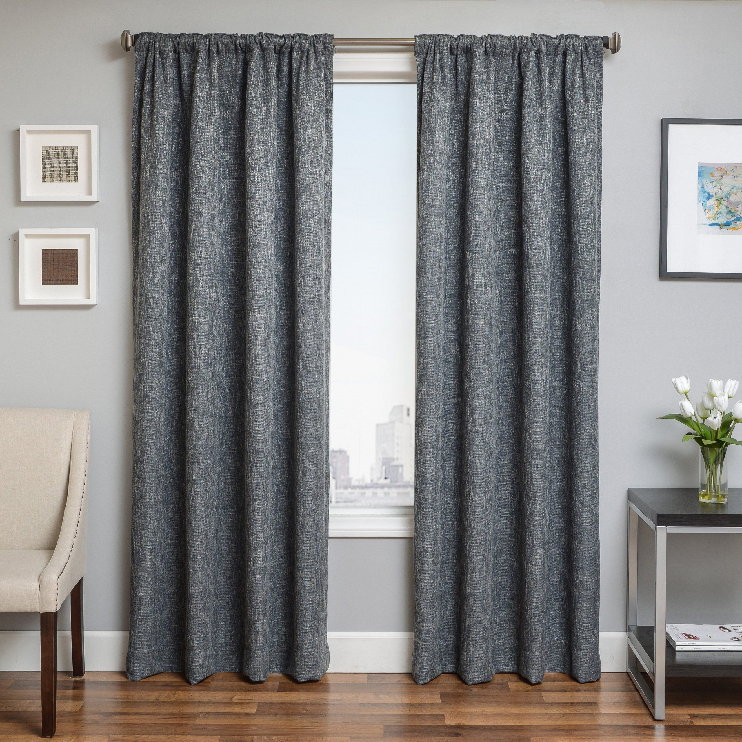 Most Recent Softline Beckman Tweed Rod Pocket Curtain Panel Spa (View 12 of 20)